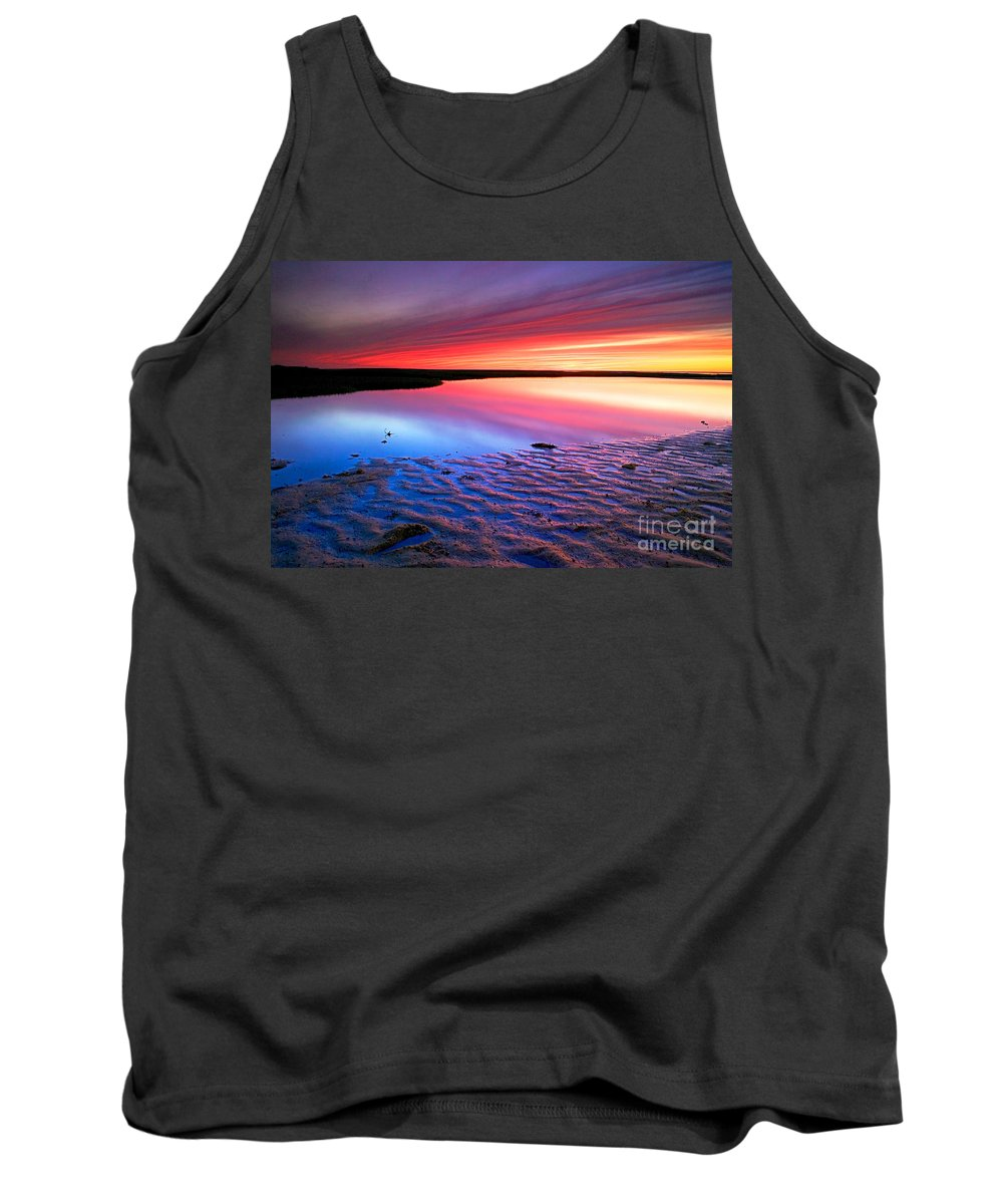 Sunset Tank Top featuring the photograph Sunset At Paines Creek Cape Cod by Matt Suess