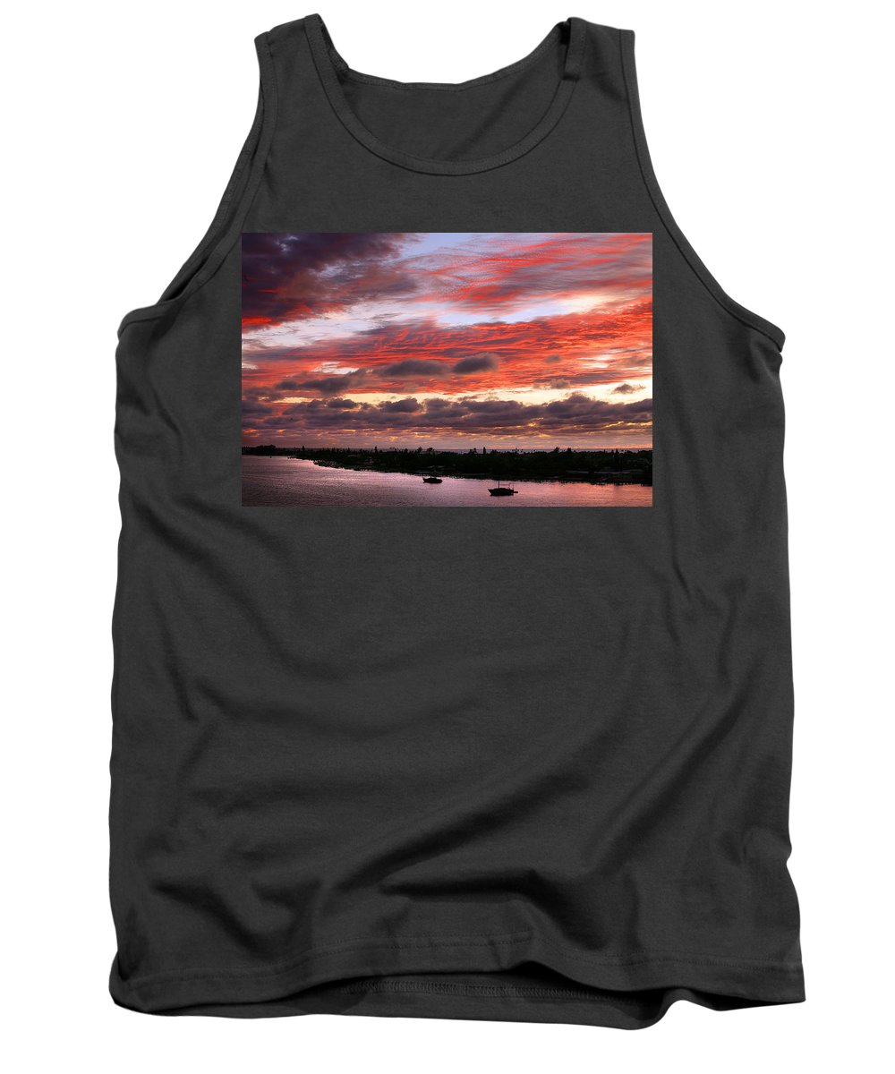 Sun Tank Top featuring the photograph Sunset At Pass A Grille Florida by Mal Bray