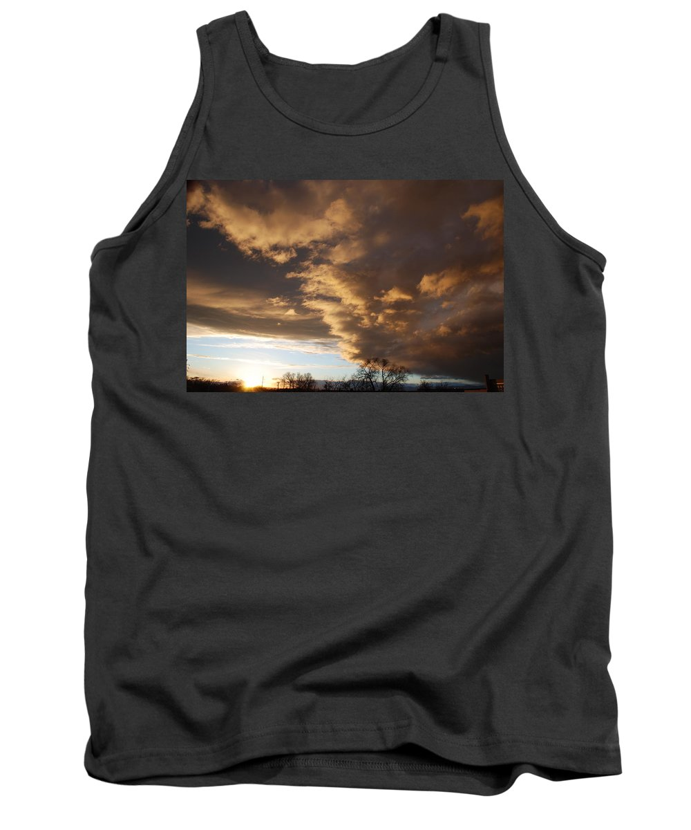 Sunset Tank Top featuring the photograph Sunset At The New Mexico State Capital by Rob Hans