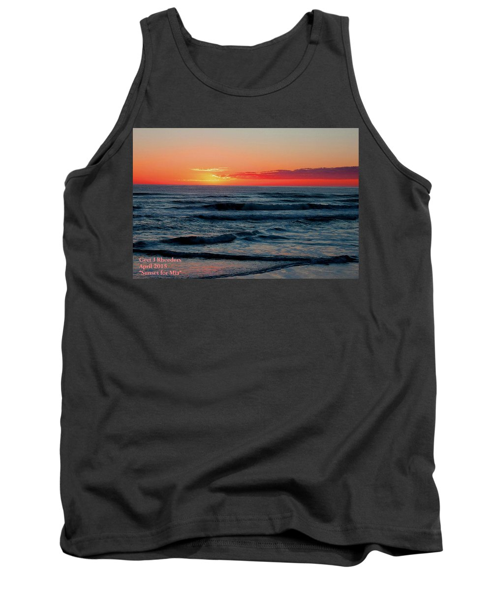 Announcement Tank Top featuring the painting Sunset For Mia H A by Gert J Rheeders
