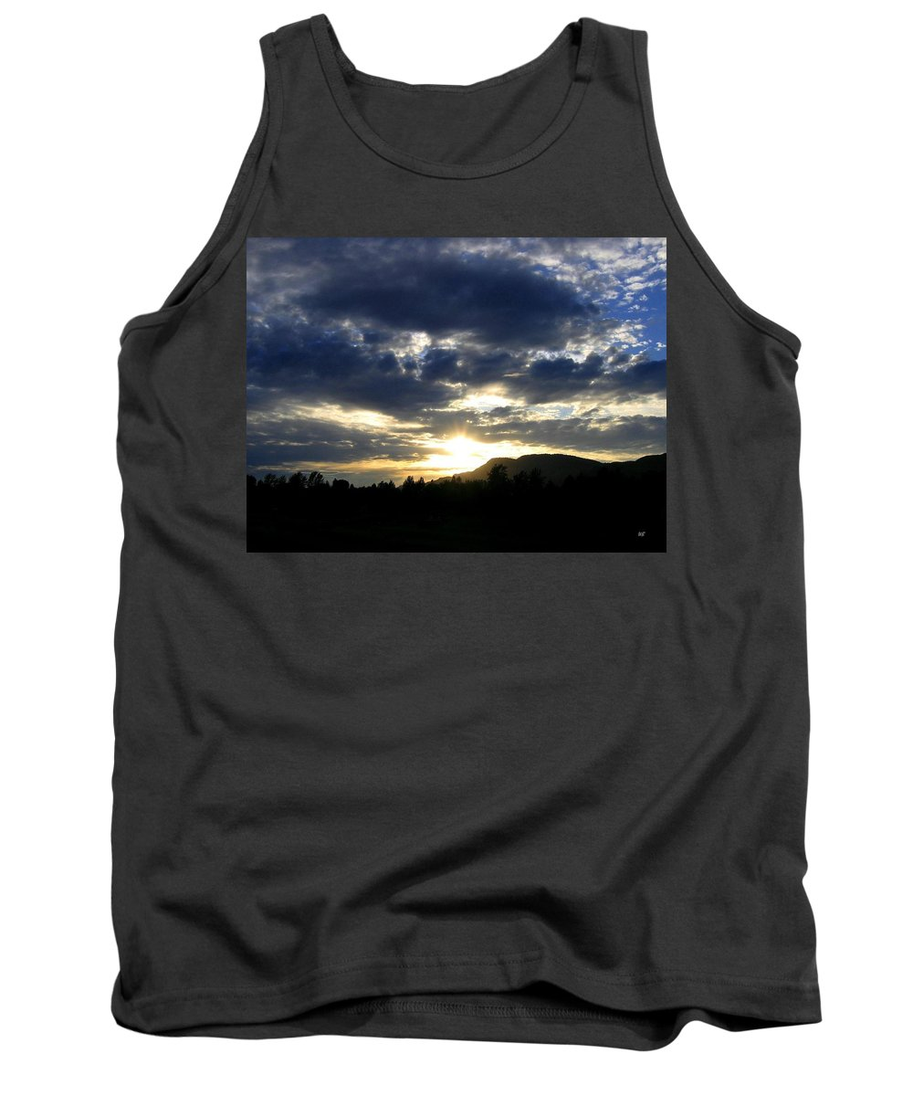 Sunset Tank Top featuring the photograph Sunset From Mcarthur Island by Will Borden