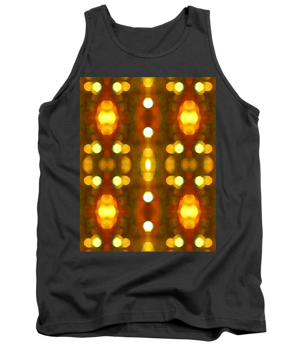 Abstract Tank Top featuring the painting Sunset Glow 2 by Amy Vangsgard