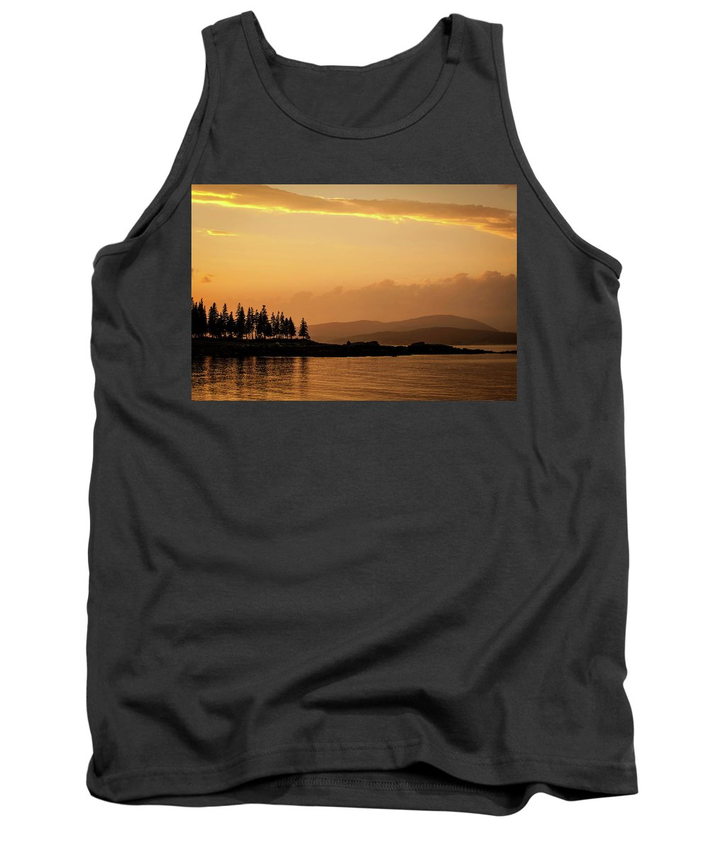 Sunset Tank Top featuring the photograph Sunset In Acadia by JD Fielding