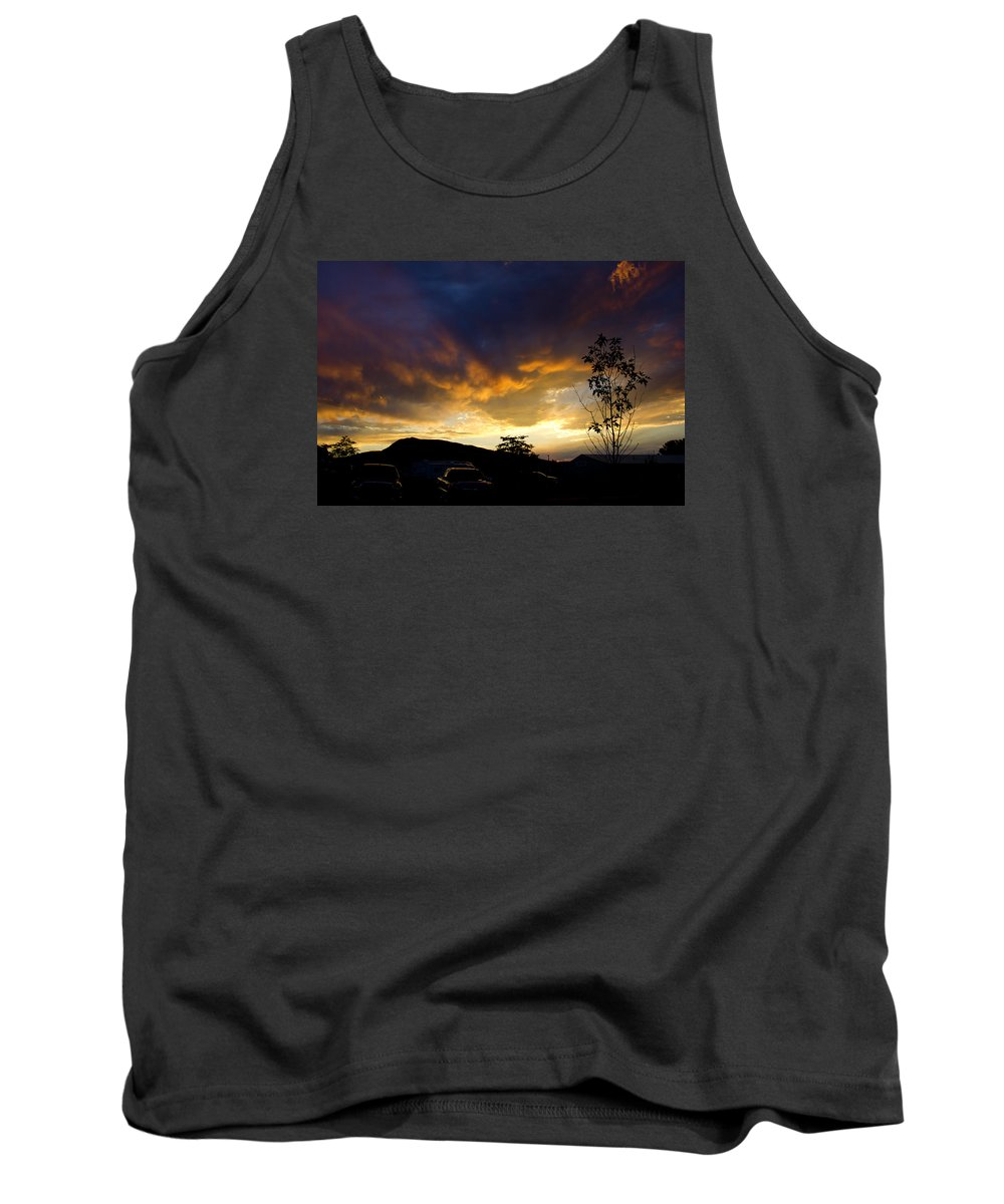 Sunset Tank Top featuring the photograph sunset in Cody wy by Clint Stussi