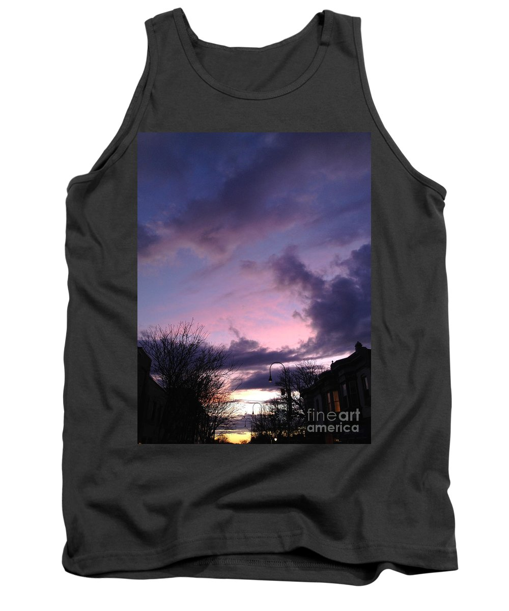Sunset Tank Top featuring the photograph Sunset In Winter Skies by Clay Cofer