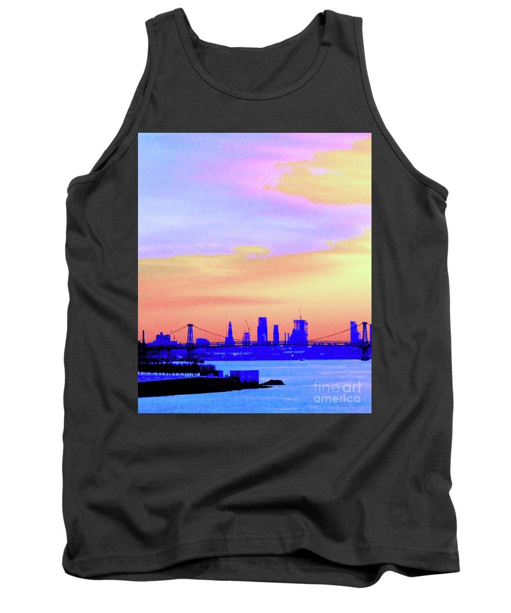 Sunset Tank Top featuring the photograph Sunset Lower Manhattan 2c2 by Ken Lerner