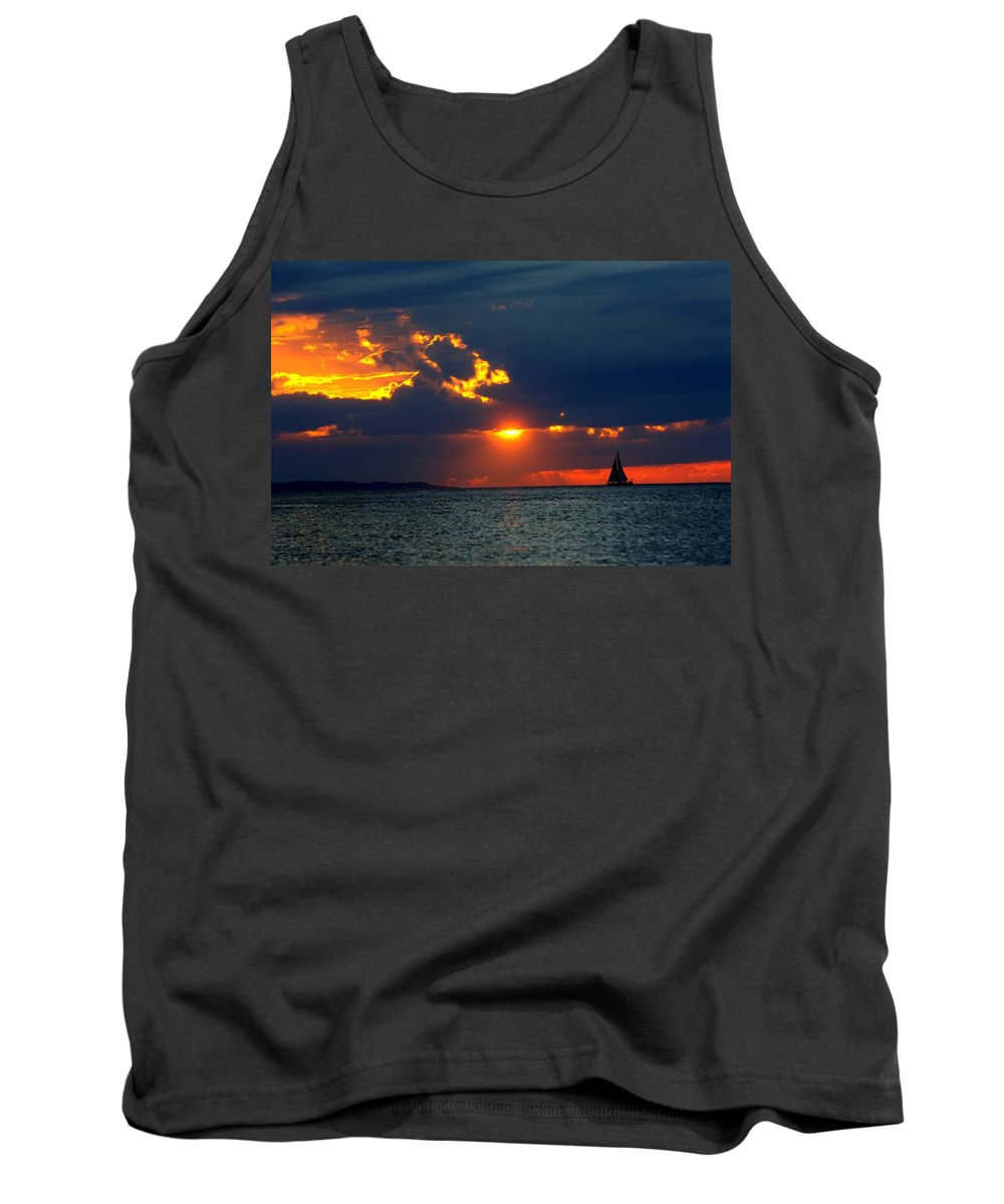 Sunset Montauk Ny Tank Top featuring the photograph Sunset Montauk Ny by Joseph T Farriella