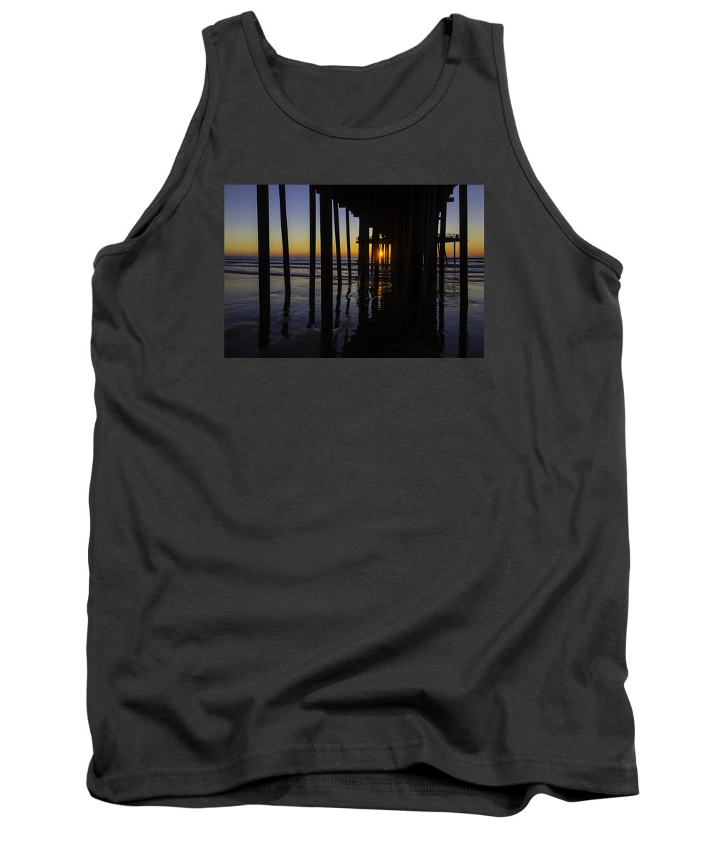 Pismo Beach Tank Top featuring the photograph Sunset Pismo Beach by Garry Gay