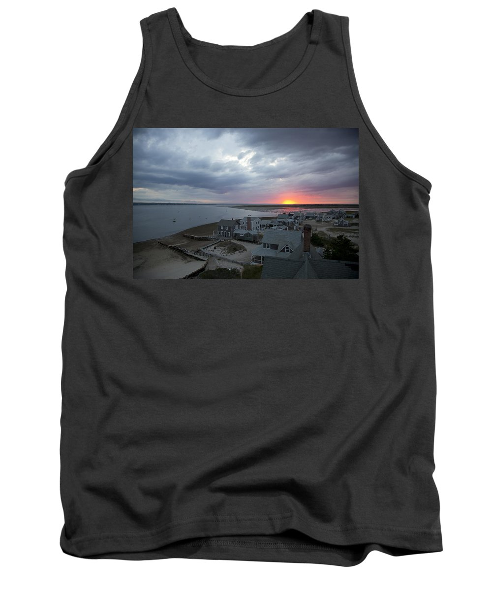 Sunset Tank Top featuring the photograph Sunset View From Sandy Neck Light by Charles Harden
