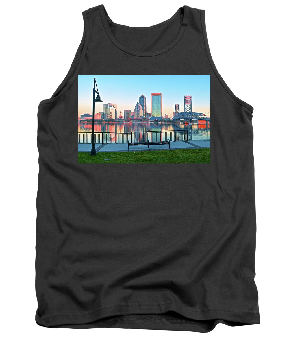 Jacksonville Tank Top featuring the photograph Sunshine State Metropolis by Frozen in Time Fine Art Photography