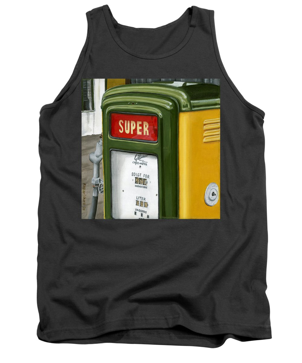 Vintage Tank Top featuring the painting Super by Rob De Vries