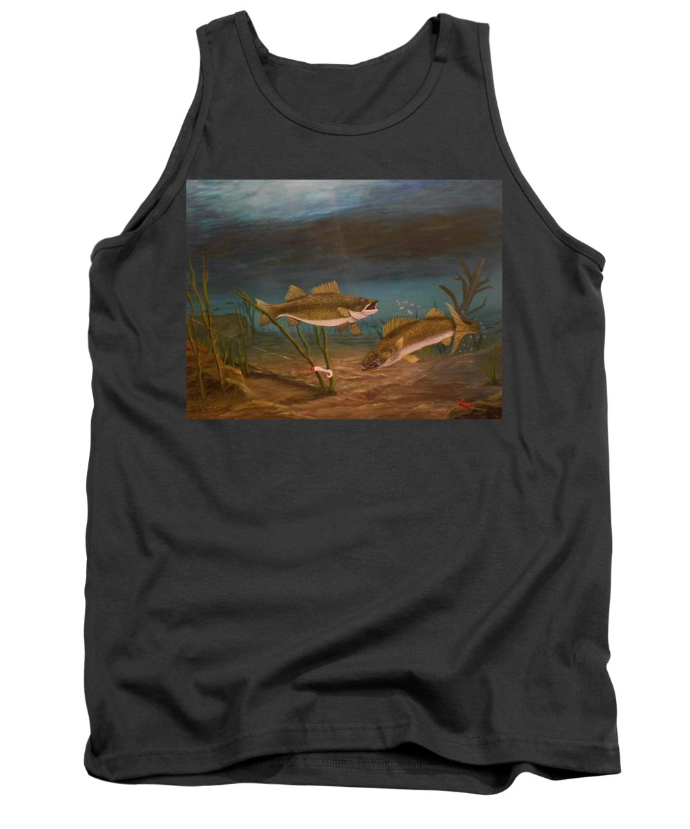 Underwater Tank Top featuring the painting Supper Time by Sheri Keith