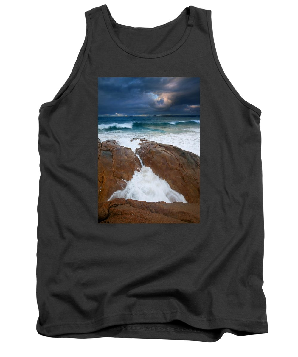 Waves Tank Top featuring the photograph Surfs Up by Mike Dawson