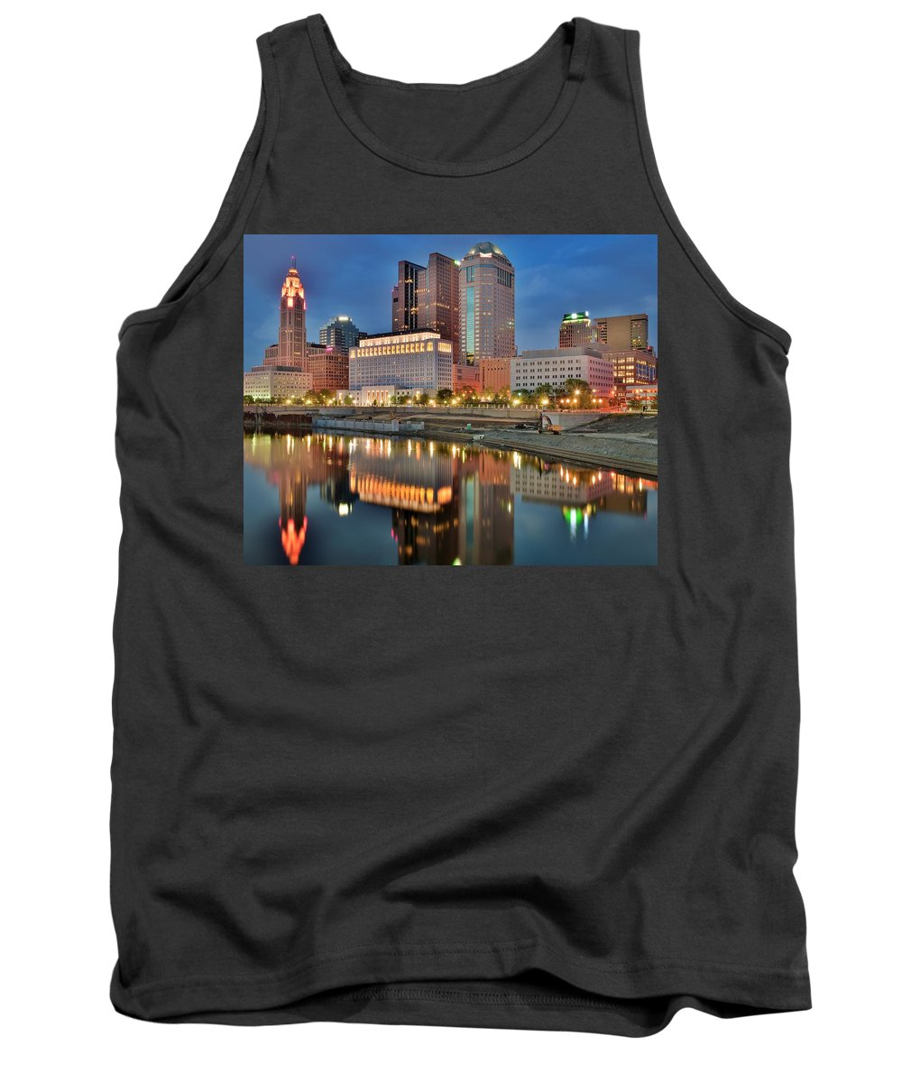 Columbus Tank Top featuring the photograph Surreal Columbus Ohio by Frozen in Time Fine Art Photography