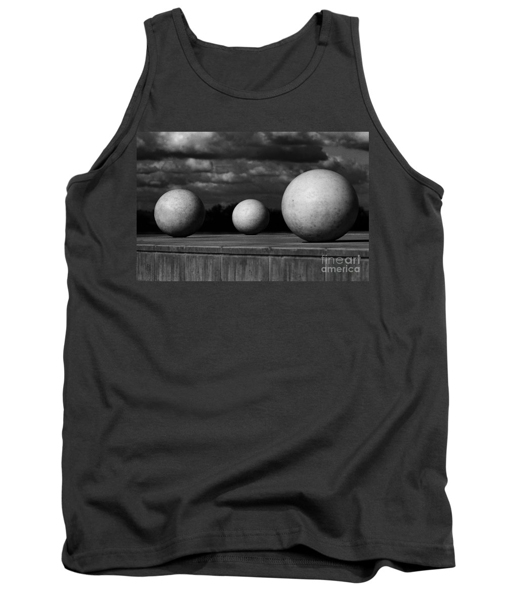Black And White Tank Top featuring the photograph Surreal Globes by Peter Piatt