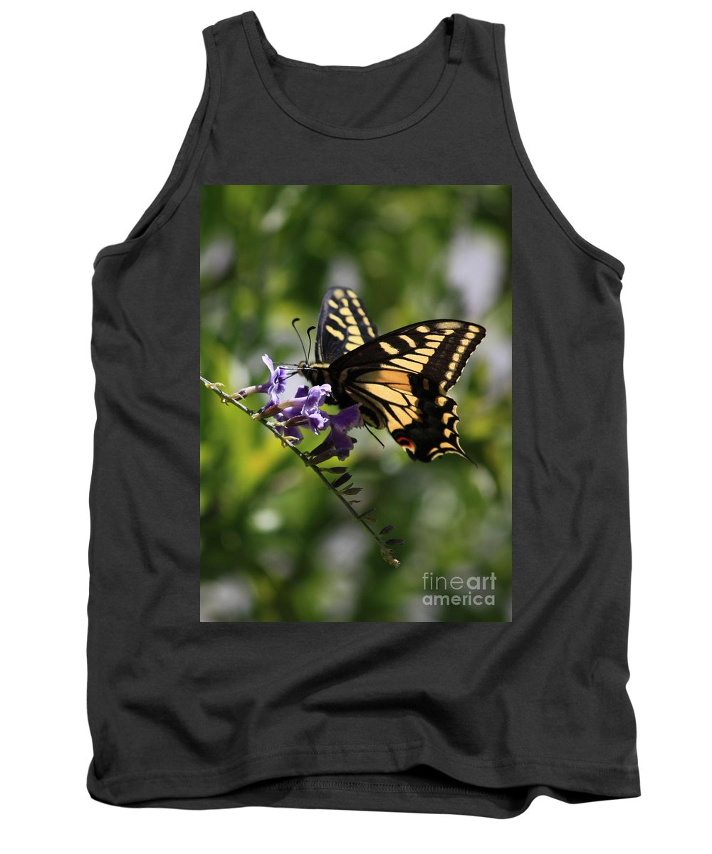 Swallowtail Butterfly Tank Top featuring the photograph Swallowtail Butterfly 1 by Carol Groenen