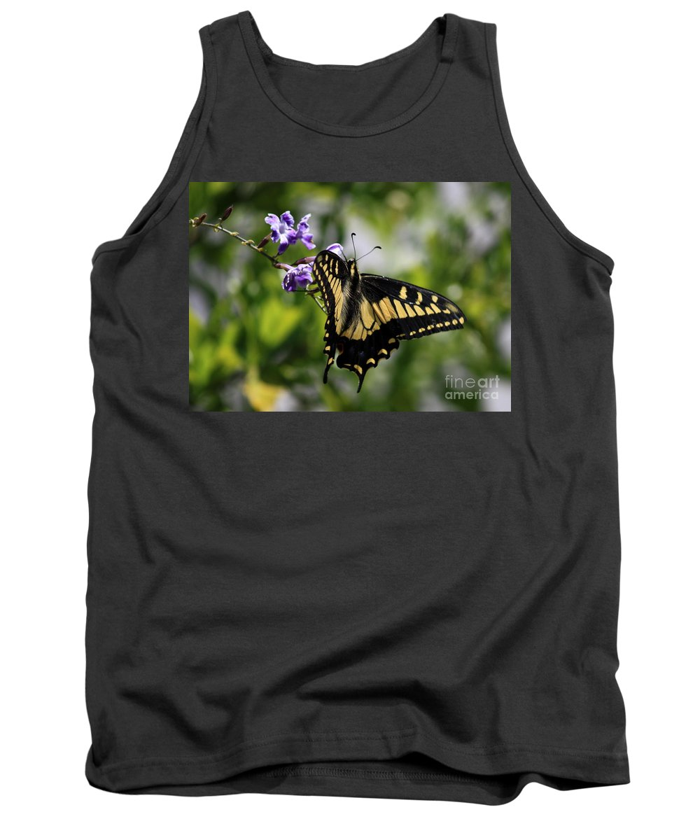 Swallowtail Butterfly Tank Top featuring the photograph Swallowtail Butterfly 2 by Carol Groenen