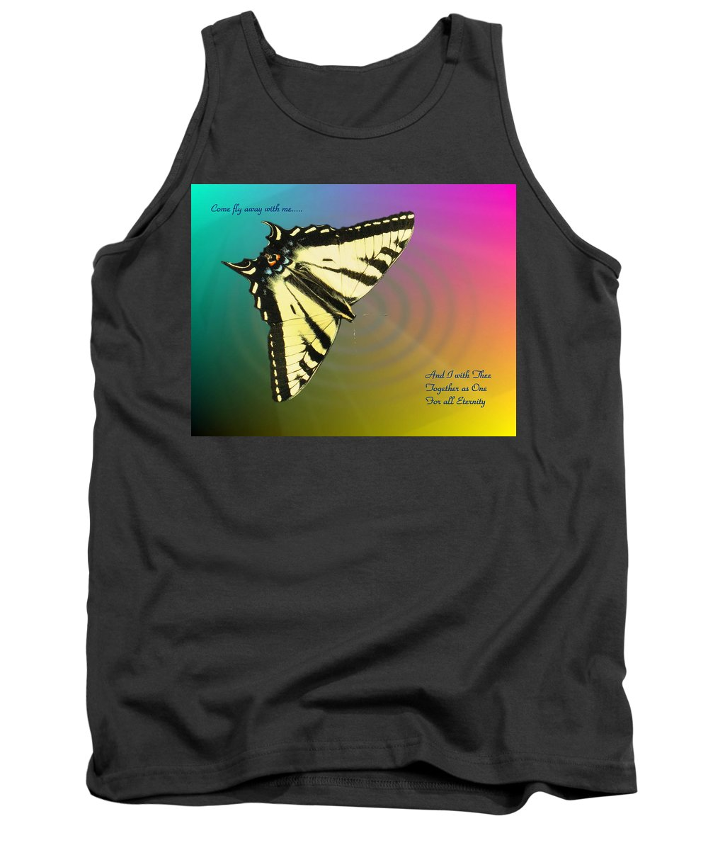 Butterfly Tank Top featuring the photograph Swallowtail - Come Fly Away With Me by Joyce Dickens