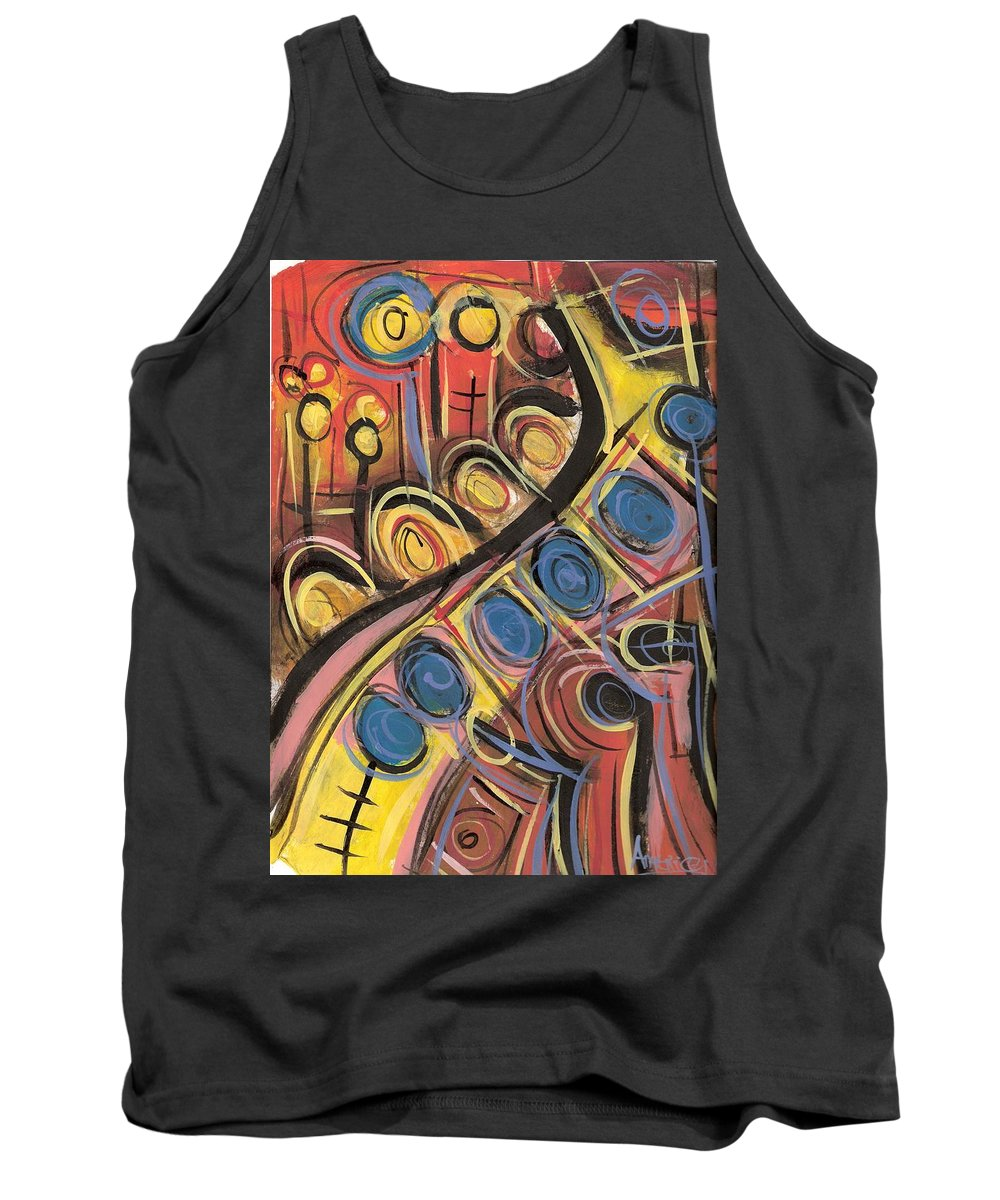 Abstract Painting Tank Top featuring the painting Sweet Music by Americo Salazar