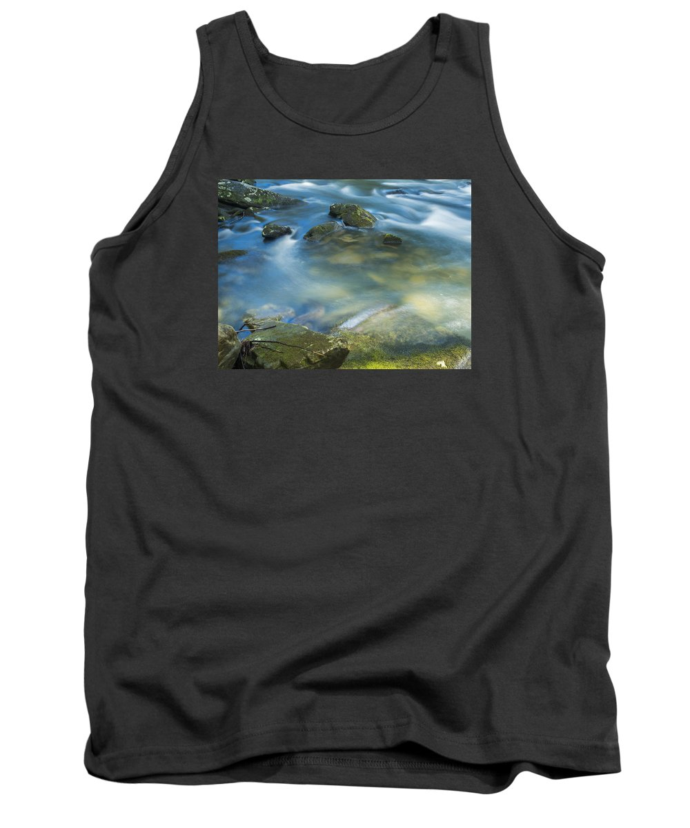 Water Tank Top featuring the photograph Swirling Pools by Ajit Pillai