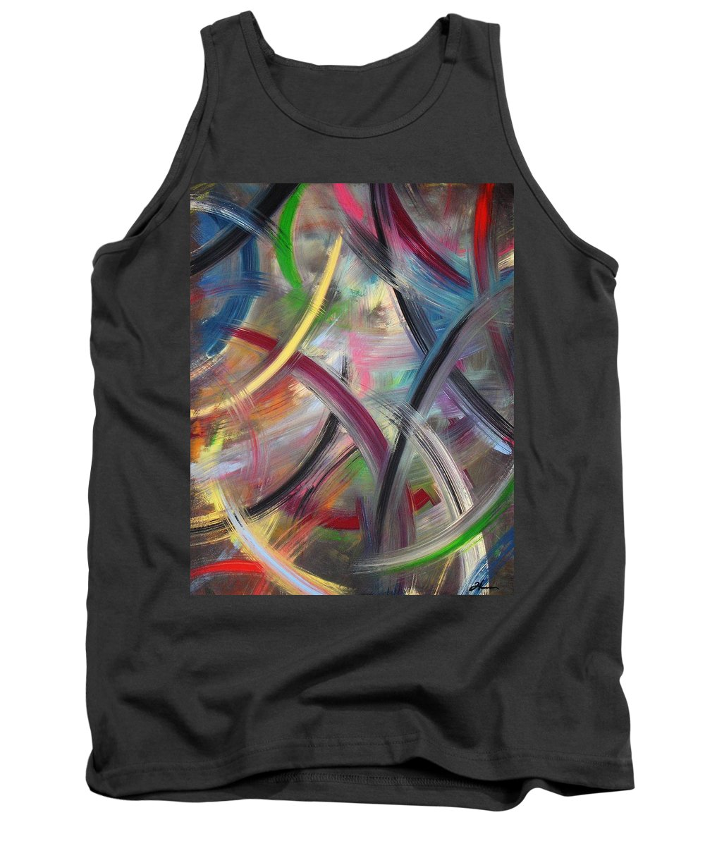 Acrylic Tank Top featuring the painting Swish by Todd Hoover