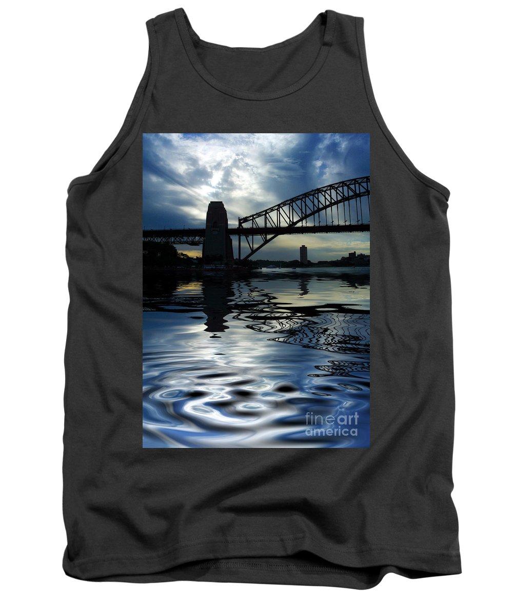 Sydney Harbour Australia Bridge Reflection Tank Top featuring the photograph Sydney Harbour Bridge Reflection by Sheila Smart Fine Art Photography