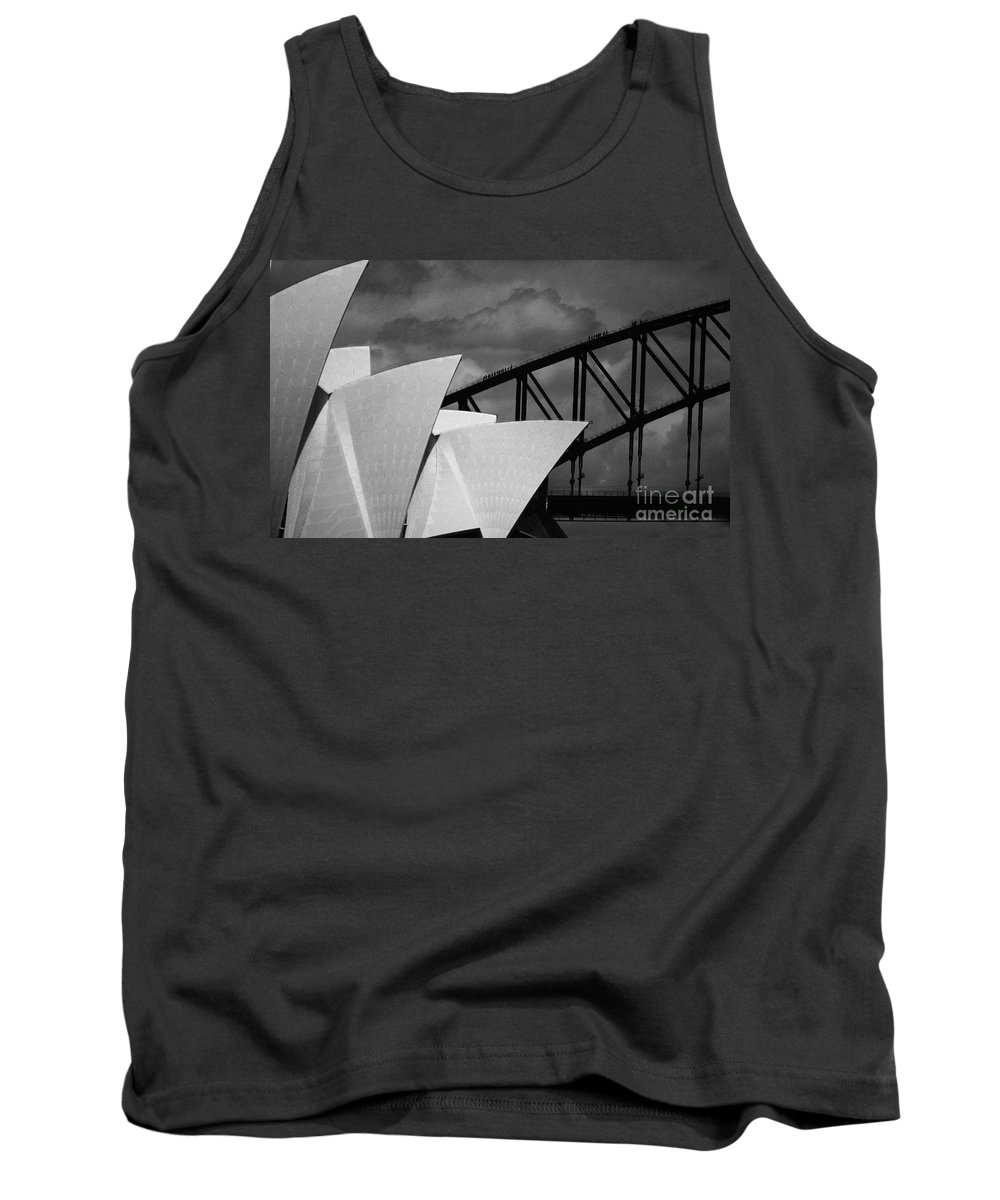Sydney Opera House Tank Top featuring the photograph Sydney Opera House With Harbour Bridge by Sheila Smart Fine Art Photography
