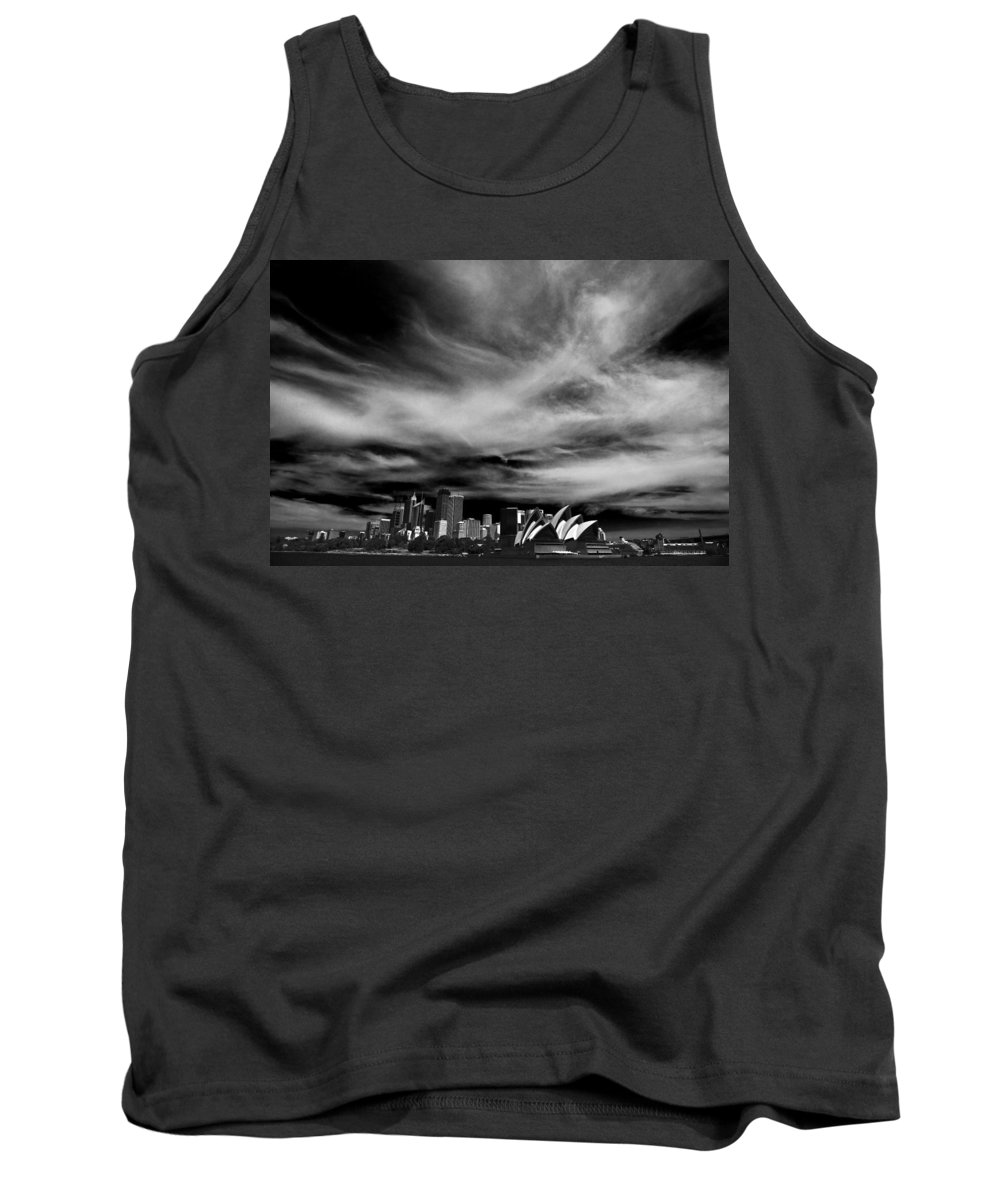 Sydney Tank Top featuring the photograph Sydney Skyline With Dramatic Sky by Sheila Smart Fine Art Photography