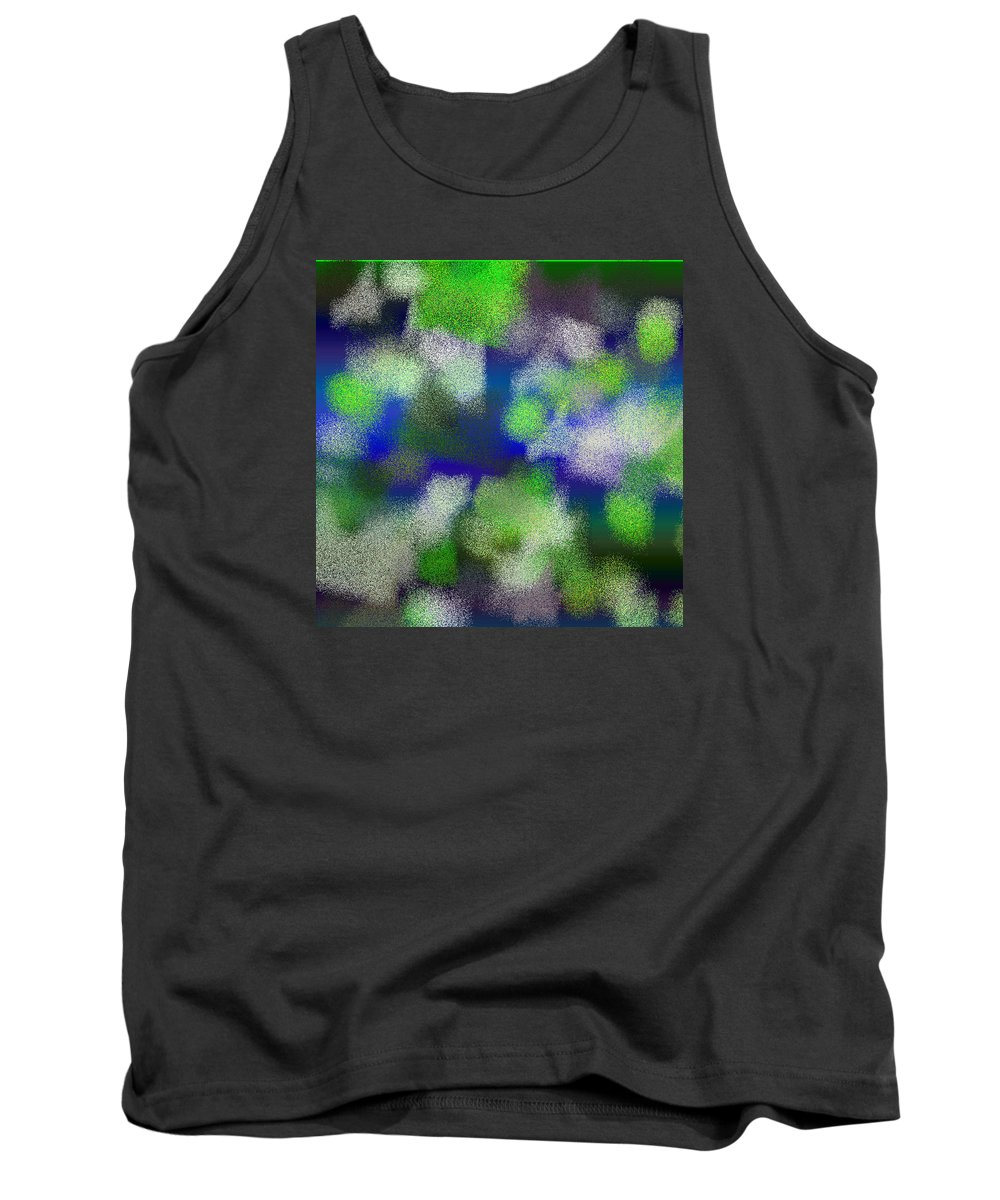 Abstract Tank Top featuring the digital art T.1.625.40.1x1.5120x5120 by Gareth Lewis