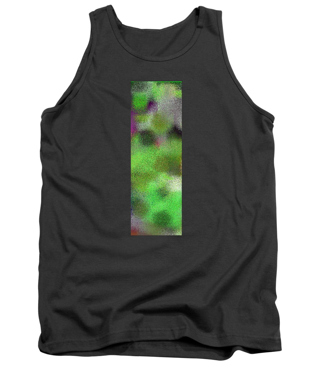 Abstract Tank Top featuring the digital art T.1.628.40.1x3.1706x5120 by Gareth Lewis