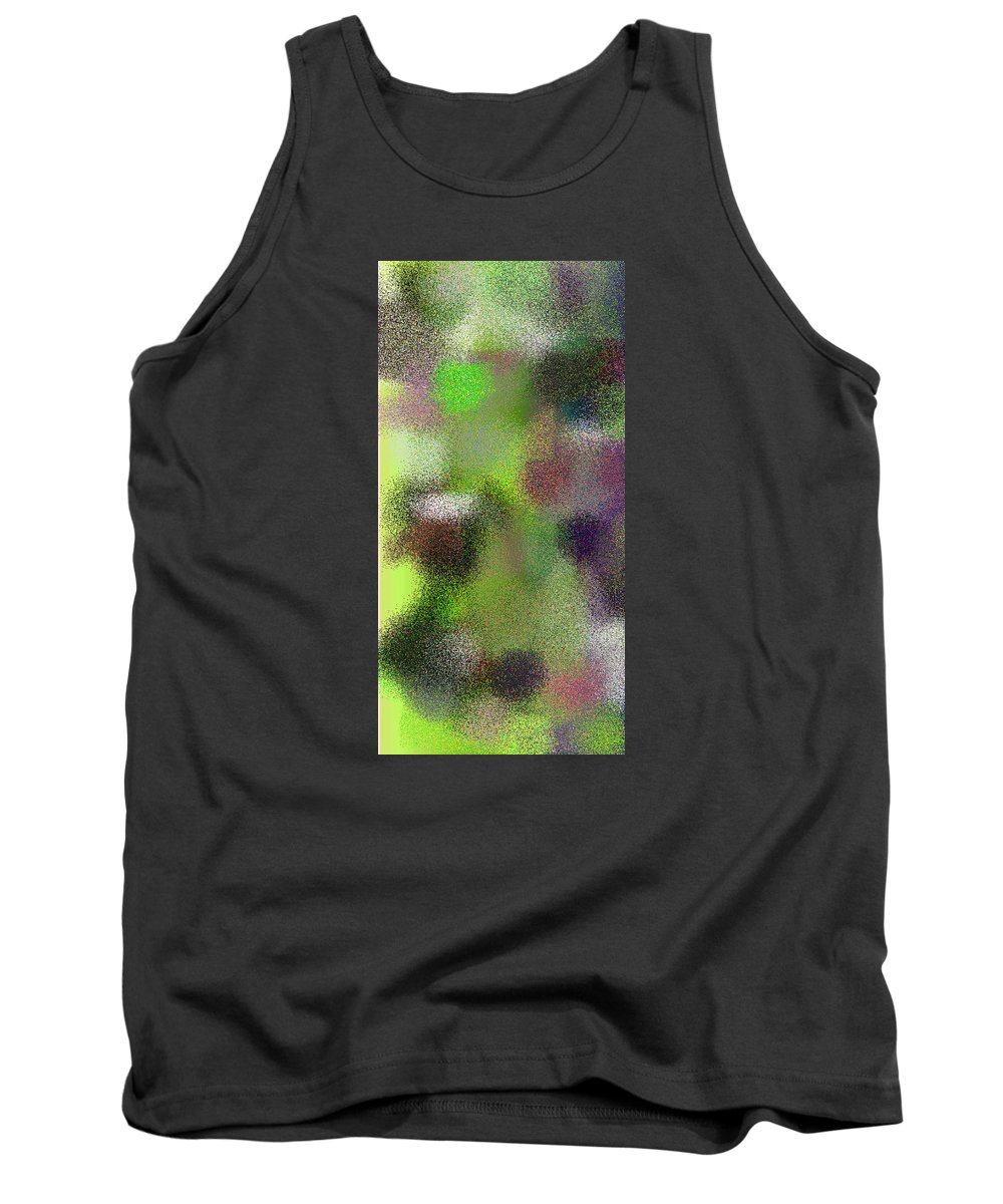 Abstract Tank Top featuring the digital art T.1.898.57.1x2.2560x5120 by Gareth Lewis