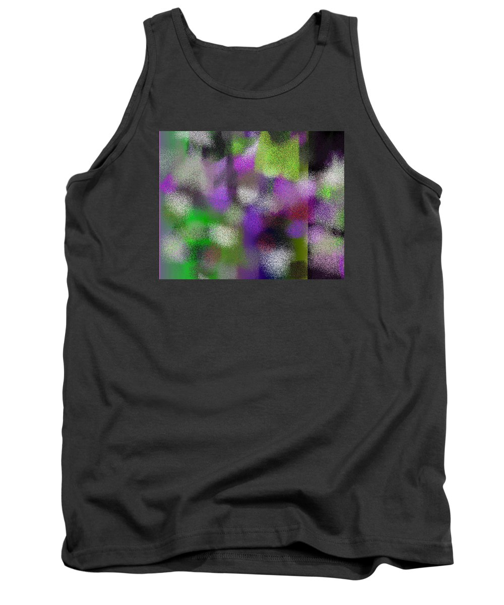 Abstract Tank Top featuring the digital art T.1.909.57.5x4.5120x4096 by Gareth Lewis