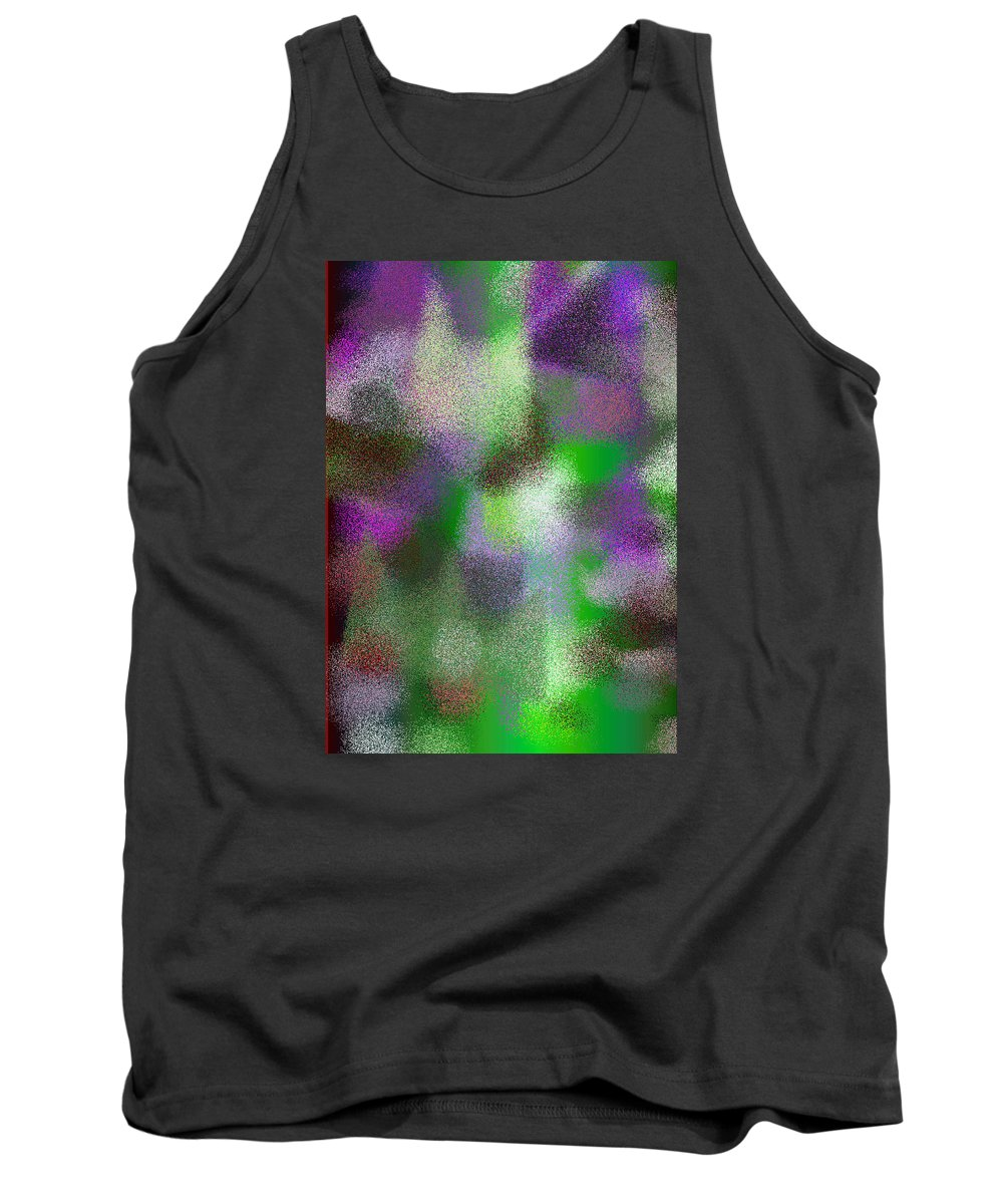 Abstract Tank Top featuring the digital art T.1.910.57.5x7.3657x5120 by Gareth Lewis
