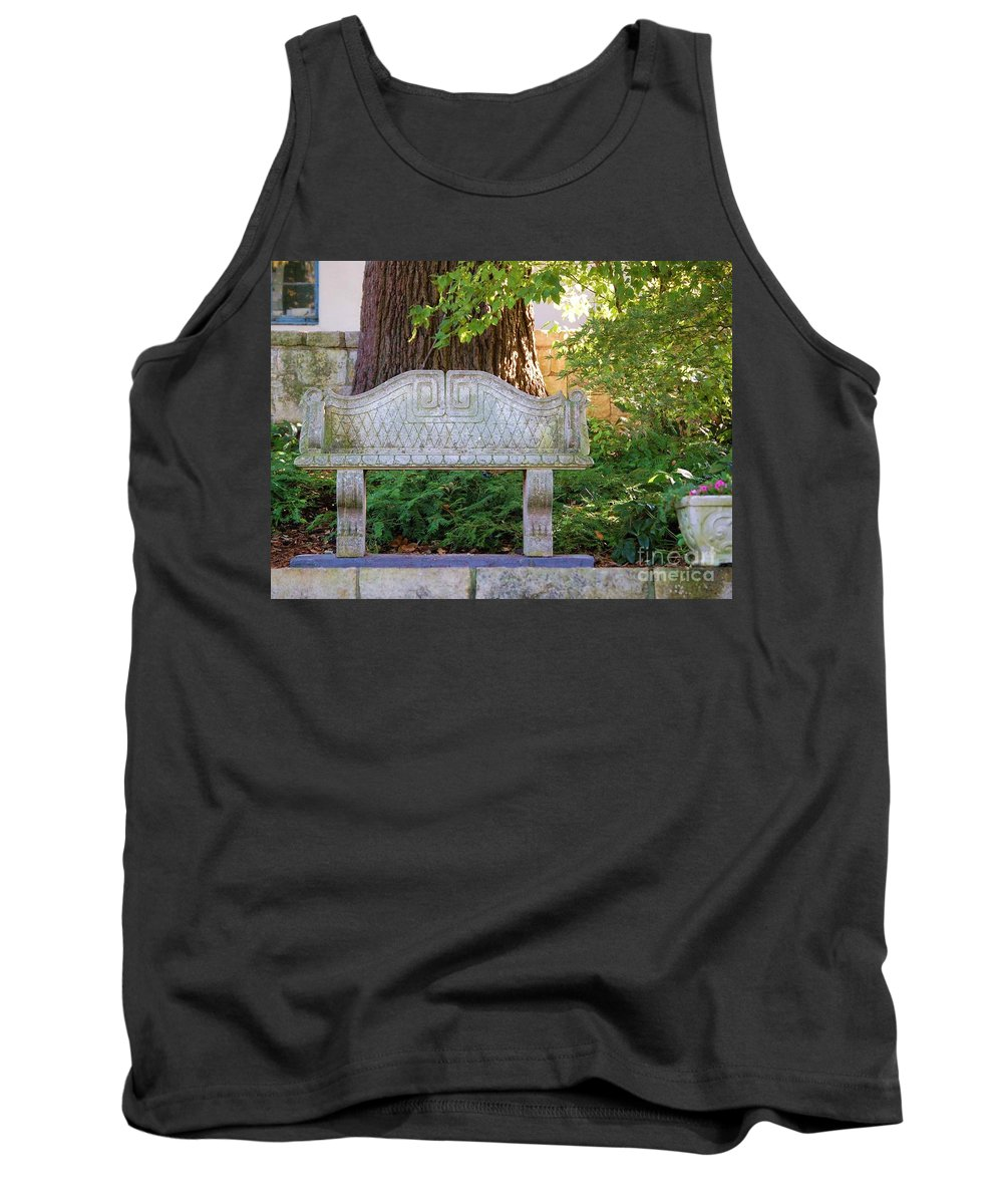 Bench Tank Top featuring the photograph Take A Break by Debbi Granruth