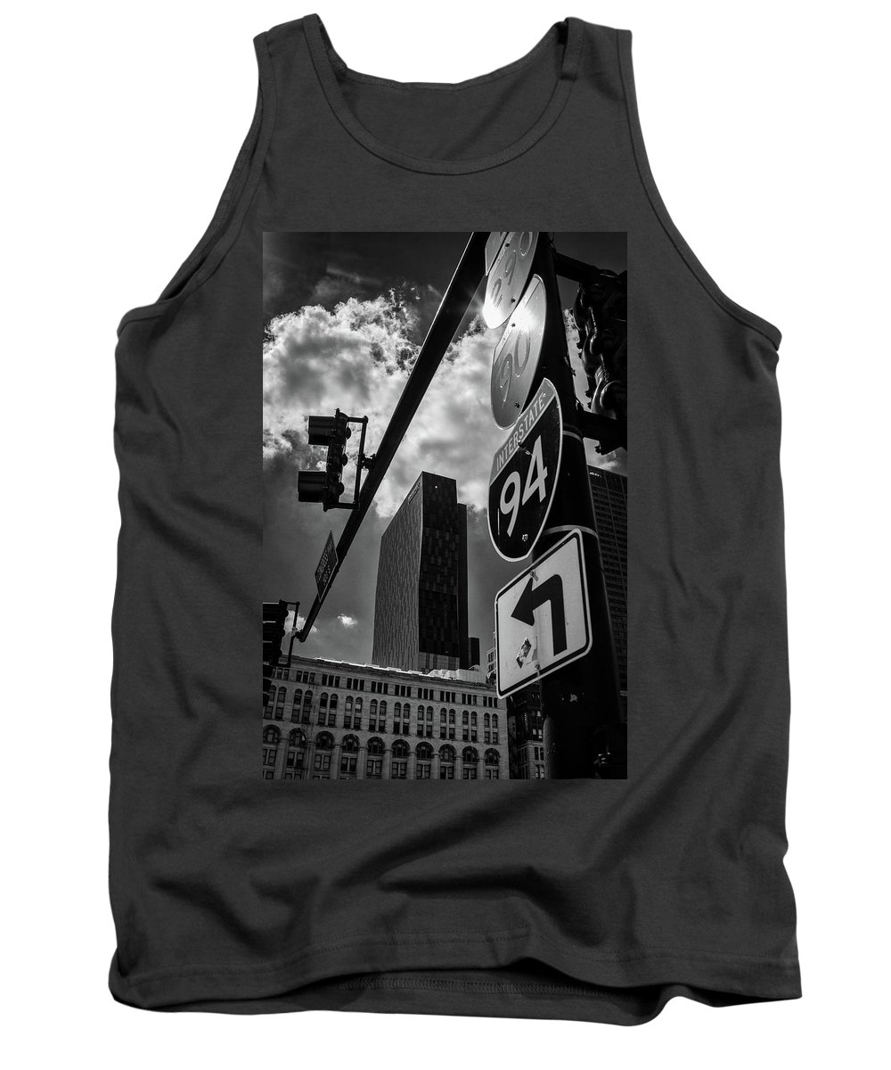 Blackwhite Tank Top featuring the photograph Take A Turn, Chicago, Il by Eric Drumm