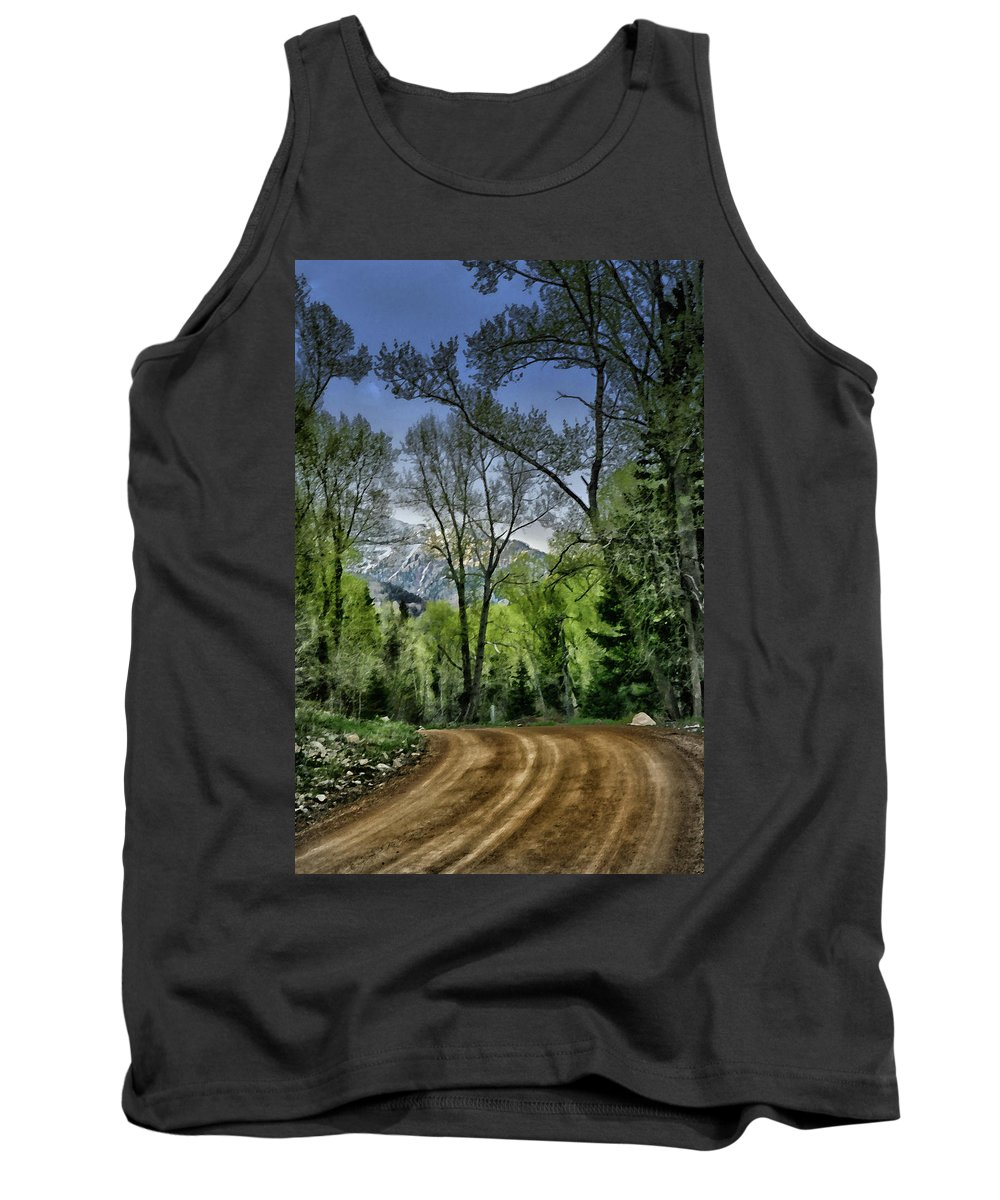 Country Tank Top featuring the digital art Take Me Home Country Road by Al Beard