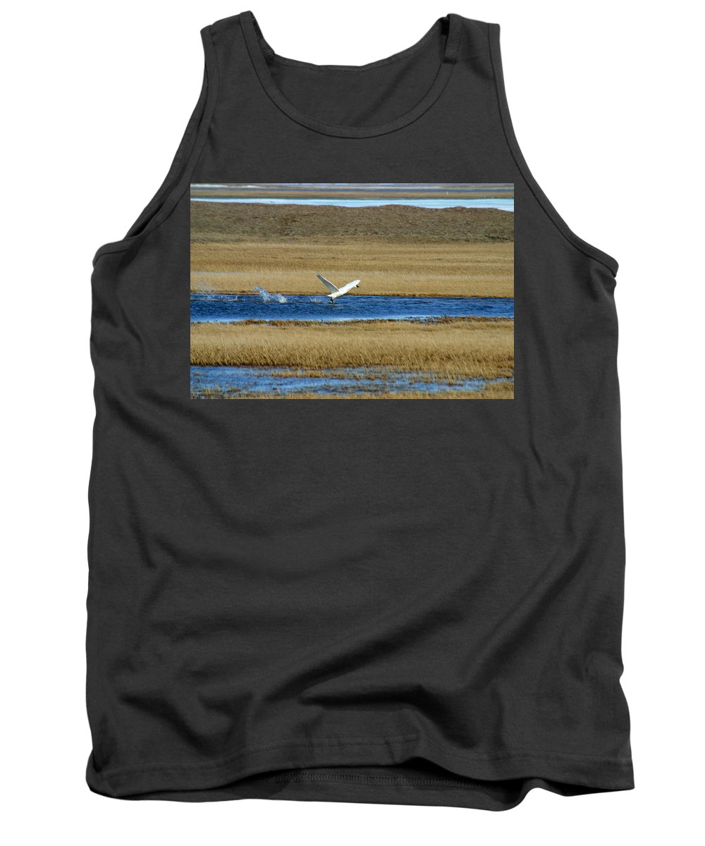Swan Tank Top featuring the photograph Take Off by Anthony Jones