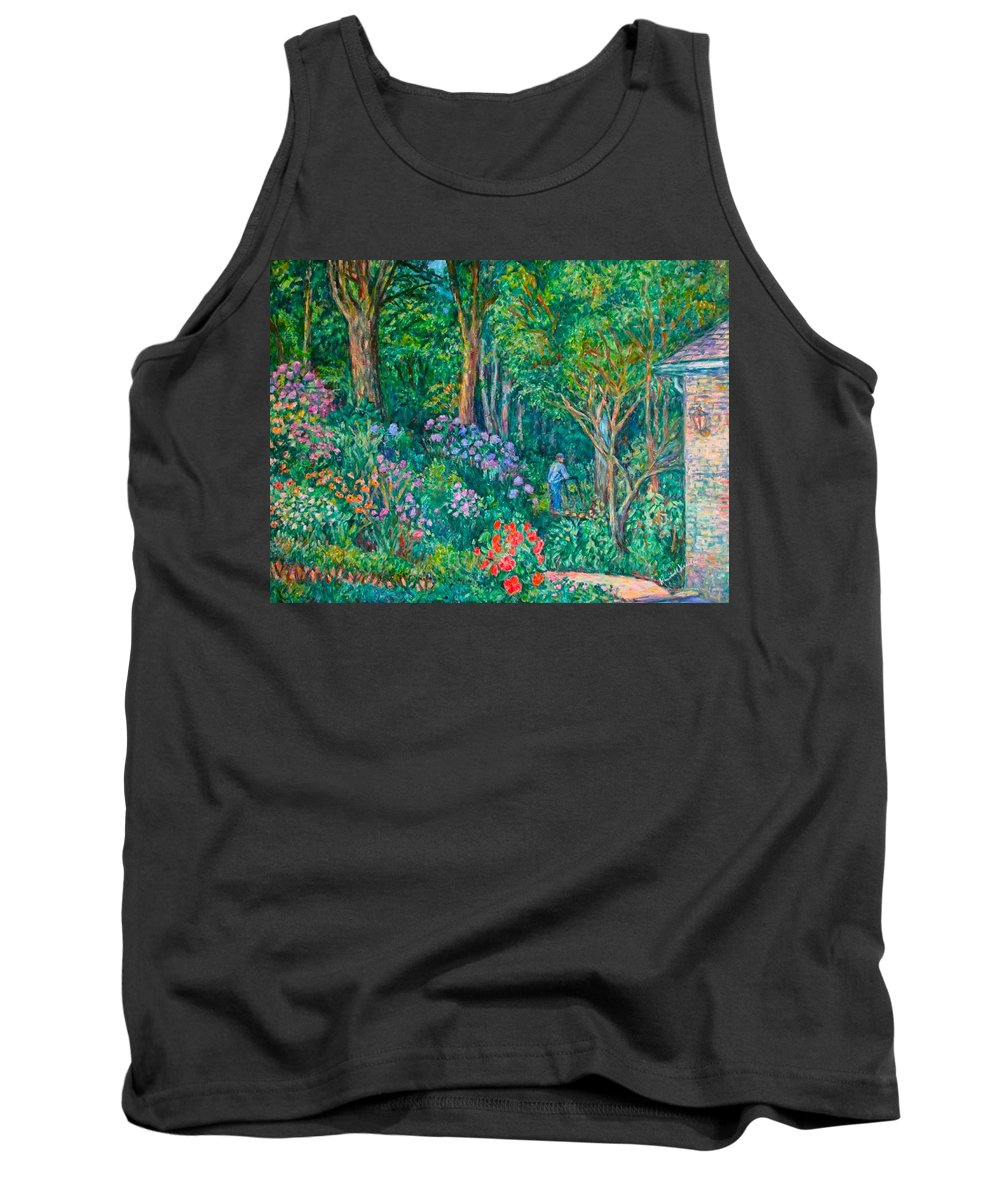 Suburban Paintings Tank Top featuring the painting Taking A Break by Kendall Kessler