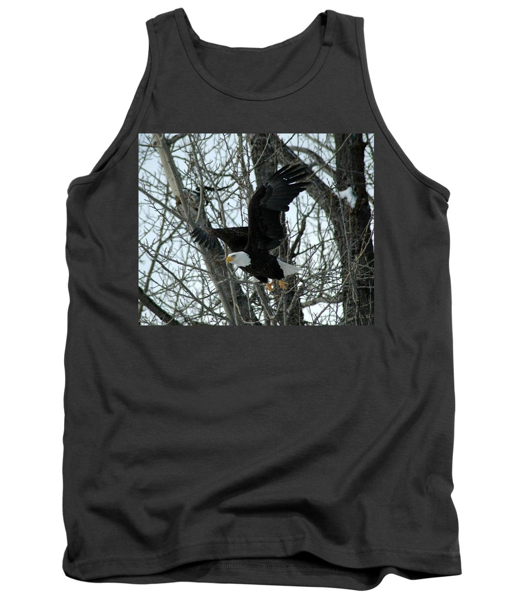 Eagle Tank Top featuring the photograph Taking Flight by Mary Sword