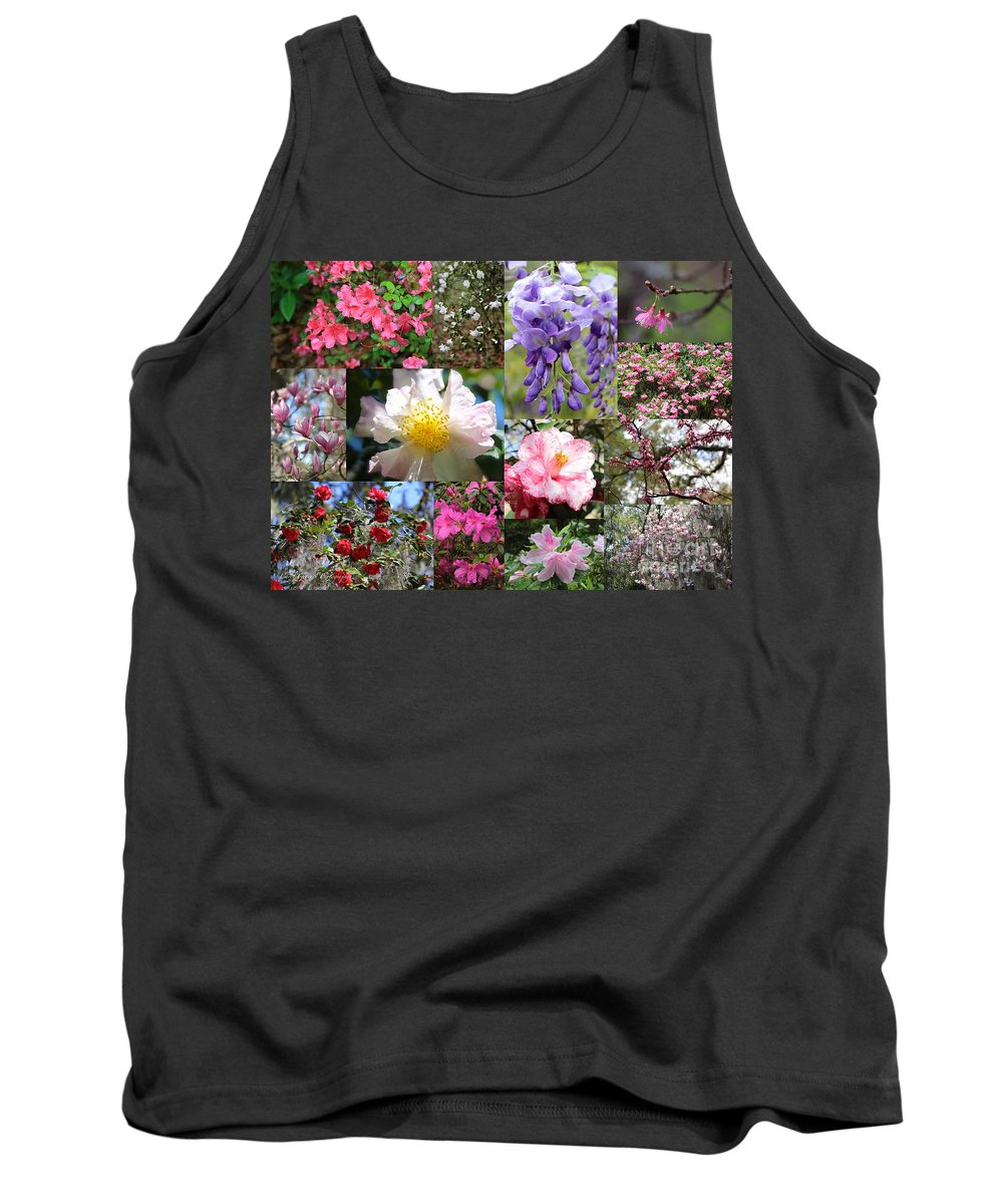 Tallahassee Tank Top featuring the photograph Tallahassee Springtime Collage by Carol Groenen
