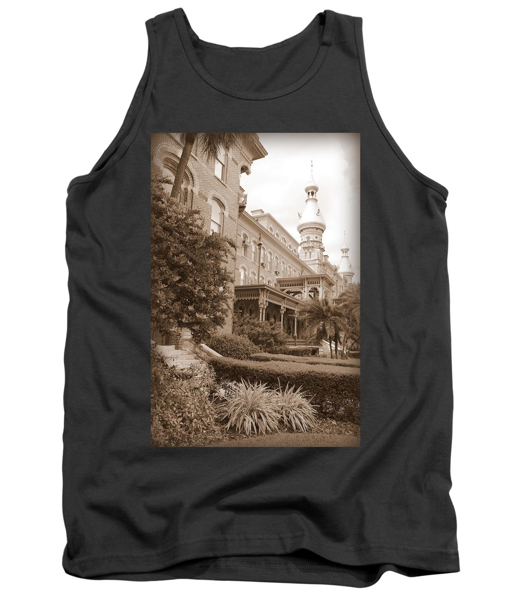 Tampa Tank Top featuring the photograph Tampa Gem In Sepia by Carol Groenen