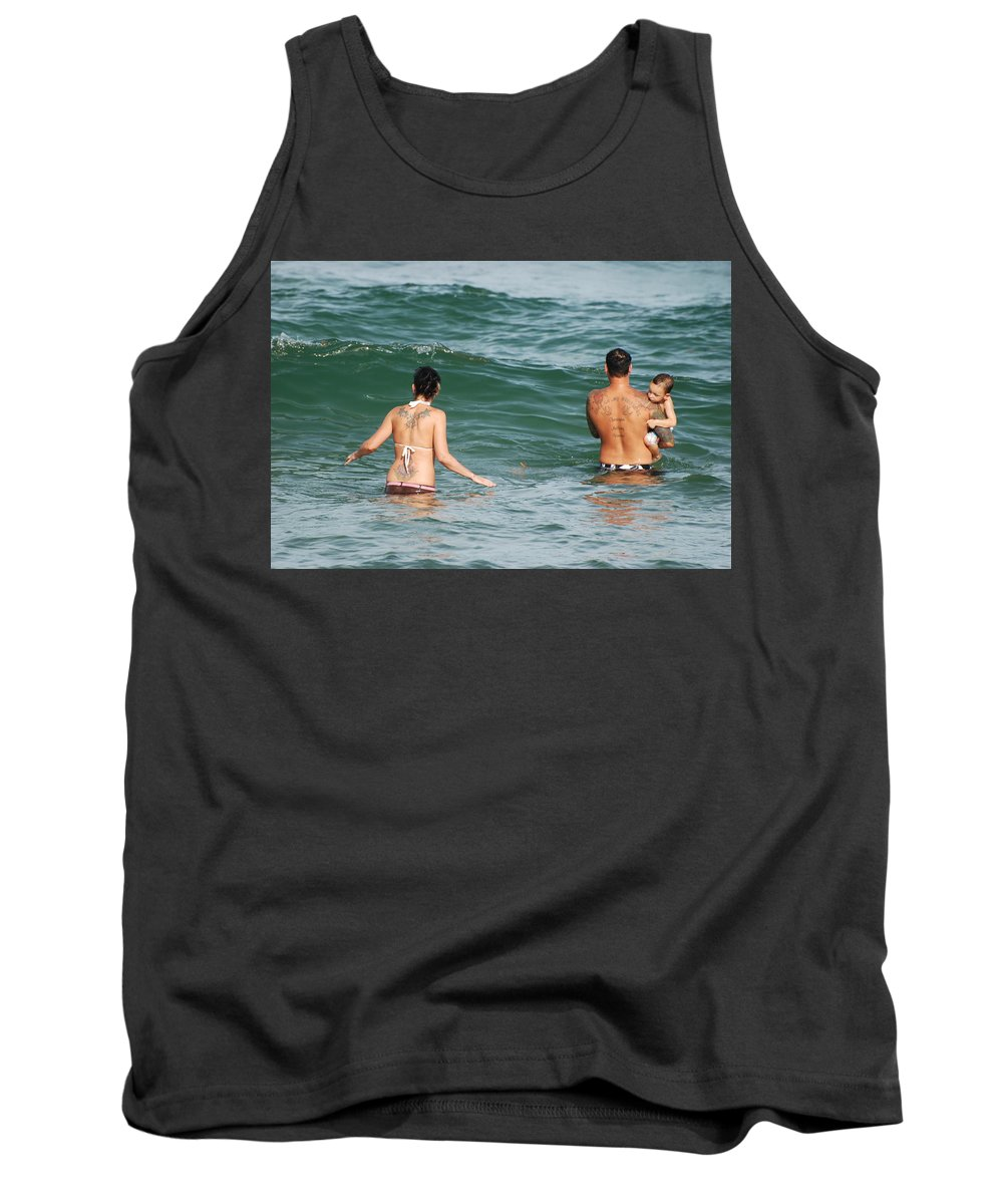 Sea Scape Tank Top featuring the photograph Tattoo Family by Rob Hans