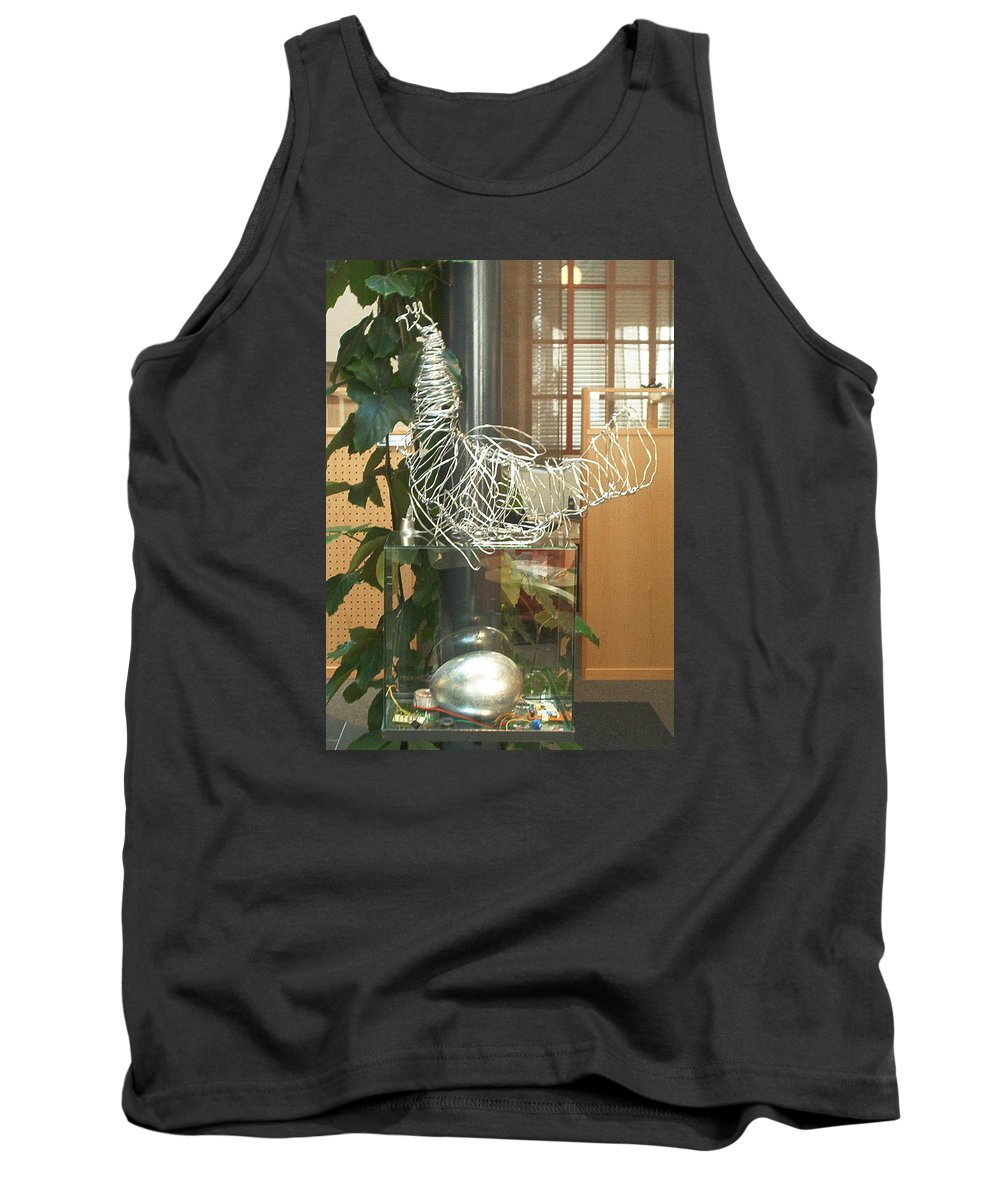 Tank Top featuring the sculpture Techno Hen by Jarle Rosseland