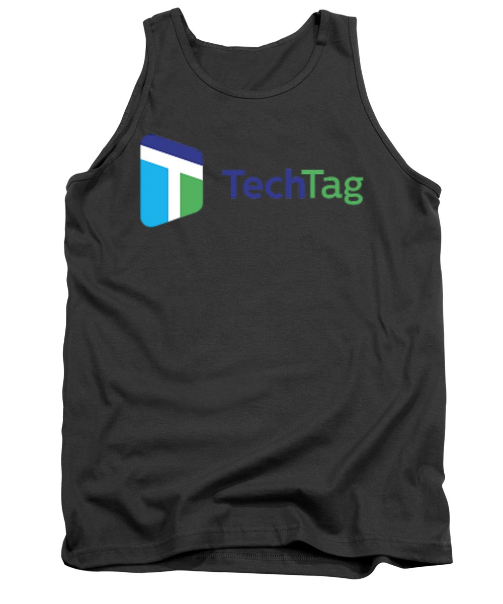 Techtag Tank Top featuring the digital art Techtag by William James