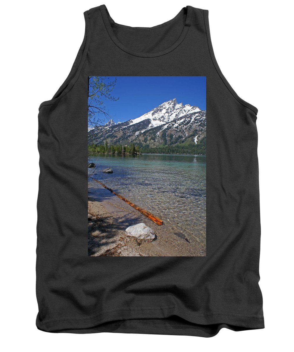 Grand Tetons Tank Top featuring the photograph Teewinot by Heather Coen