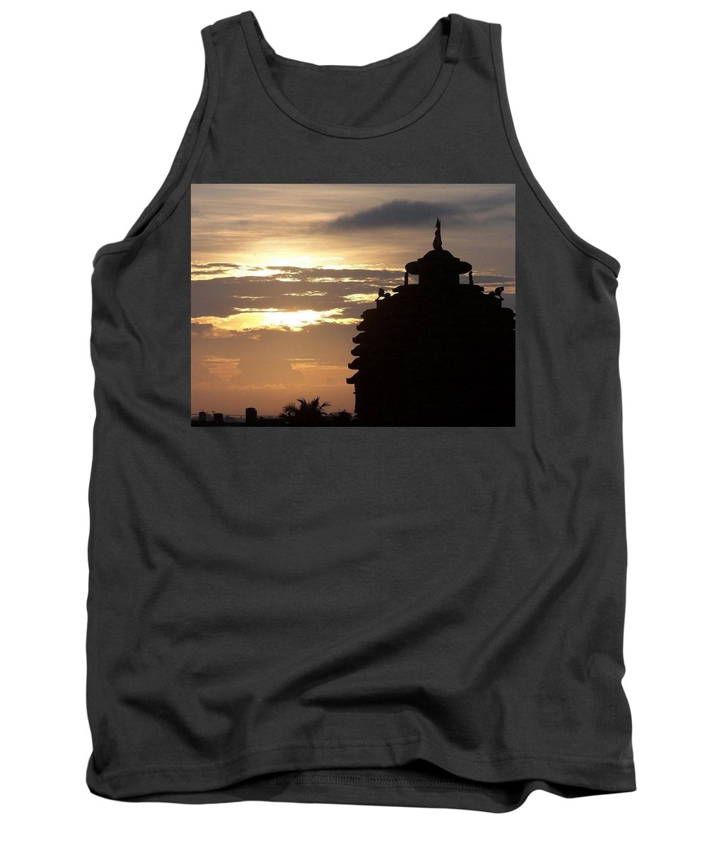 Temple Tank Top featuring the photograph Temple In India by Swastik Mishra