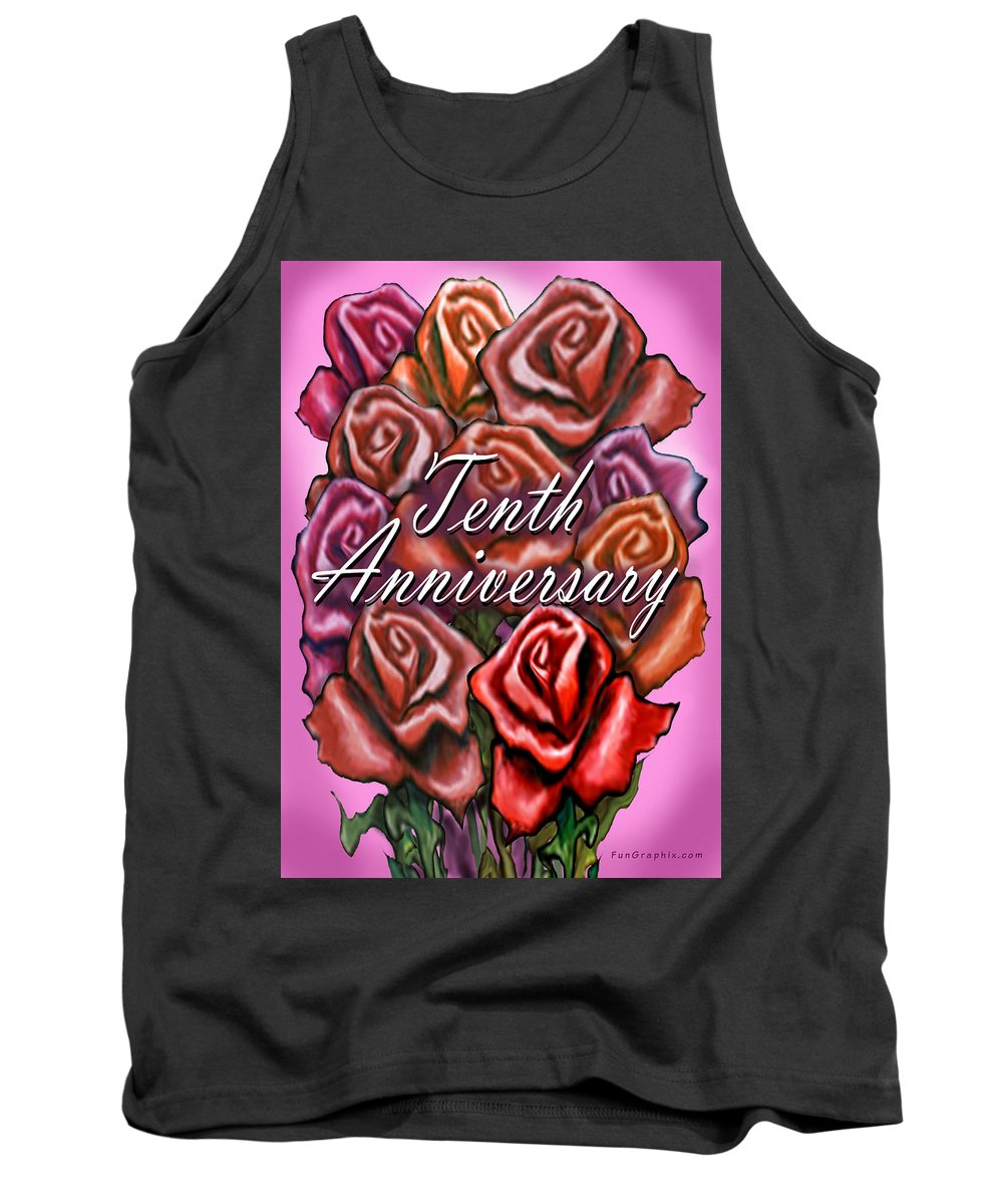 Tenth Tank Top featuring the greeting card Tenth Anniversary by Kevin Middleton