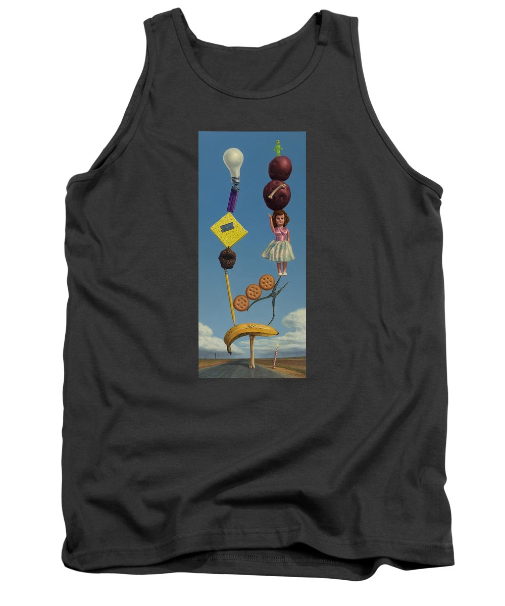 Still-life Tank Top featuring the painting Tenuous Still-life 2 by James W Johnson