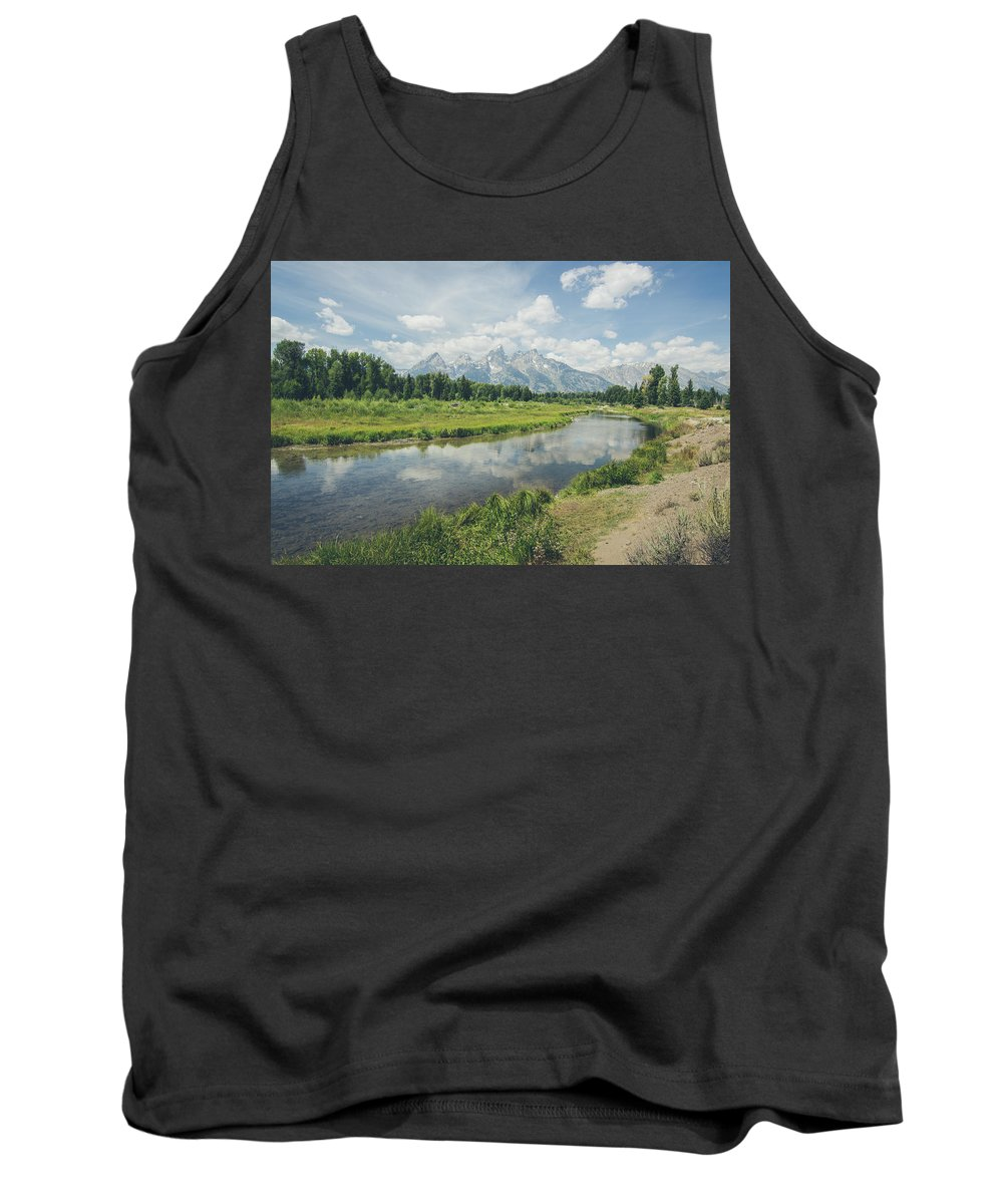 Grand Tetons Tank Top featuring the photograph Teton Reflections by Margaret Pitcher