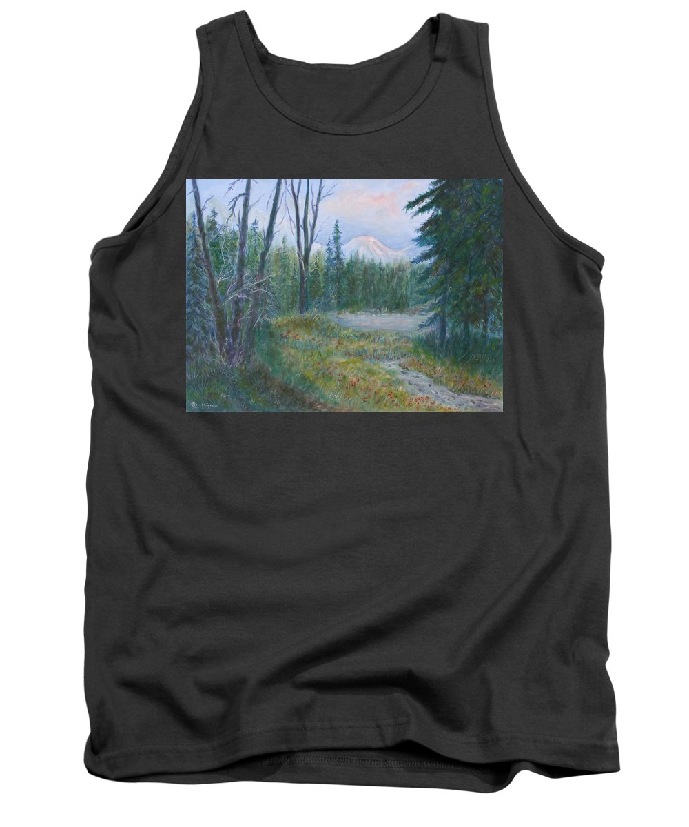Landscape Tank Top featuring the painting Teton Valley by Ben Kiger